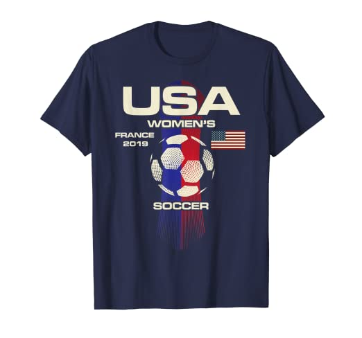 image unavailable image not available for color women soccer usa team tshirt france 2019 world tournament