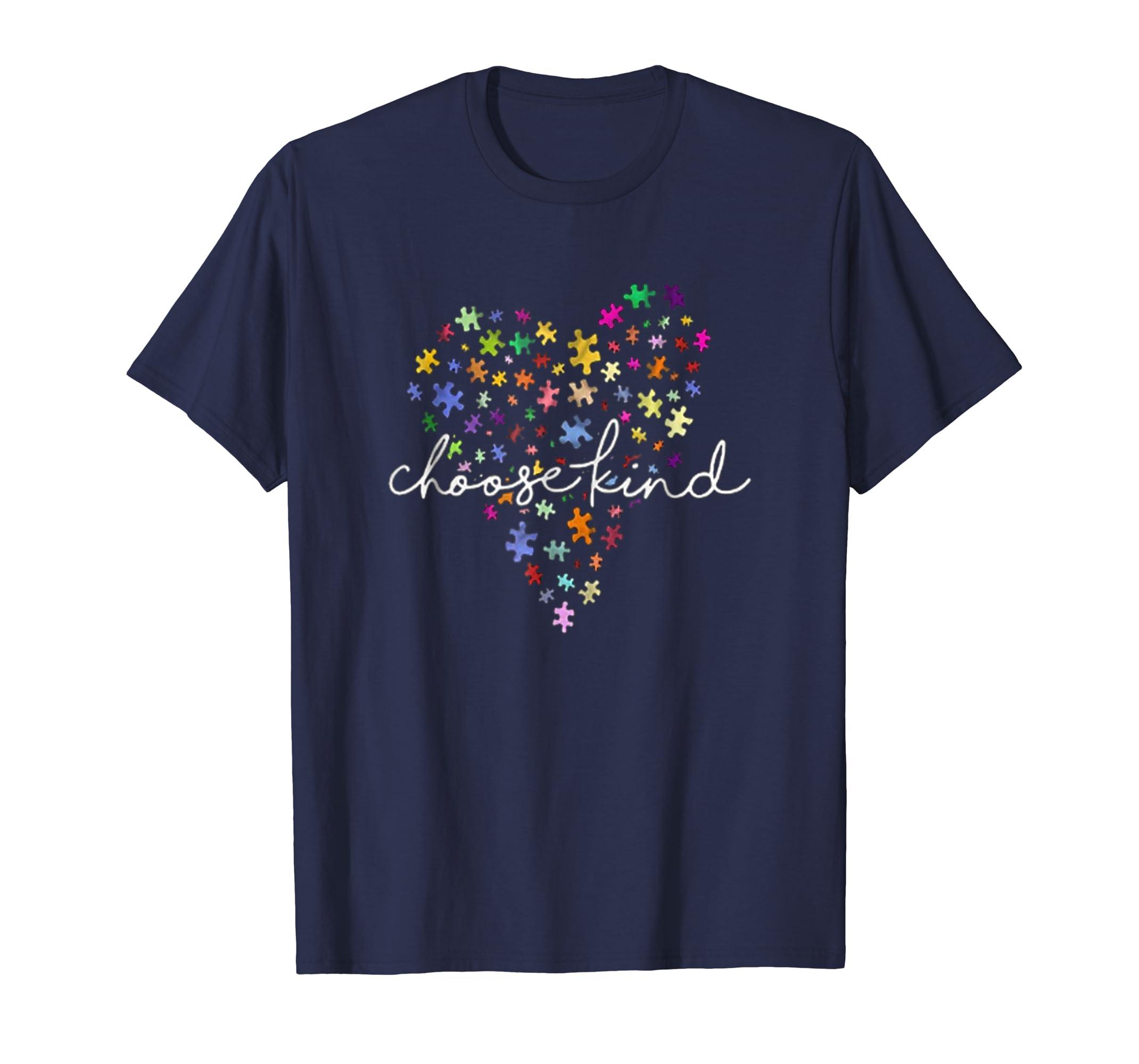 Autism awareness heart choose kind t shirt-azvn