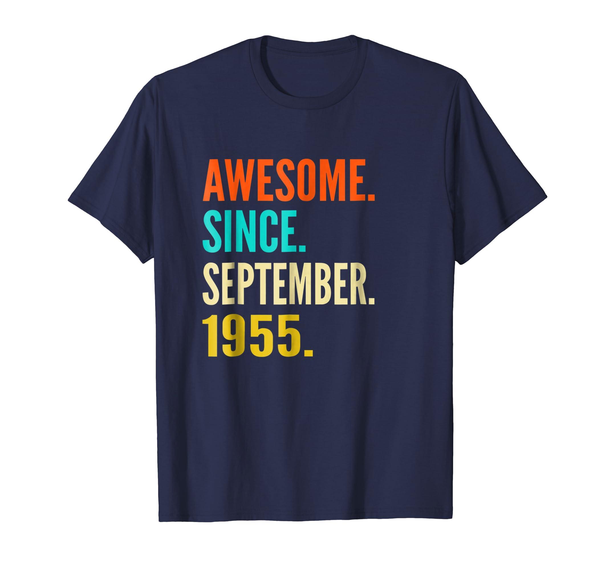 September 1955 Shirt Vintage 63th Birthday Gift Men Women-Teesml