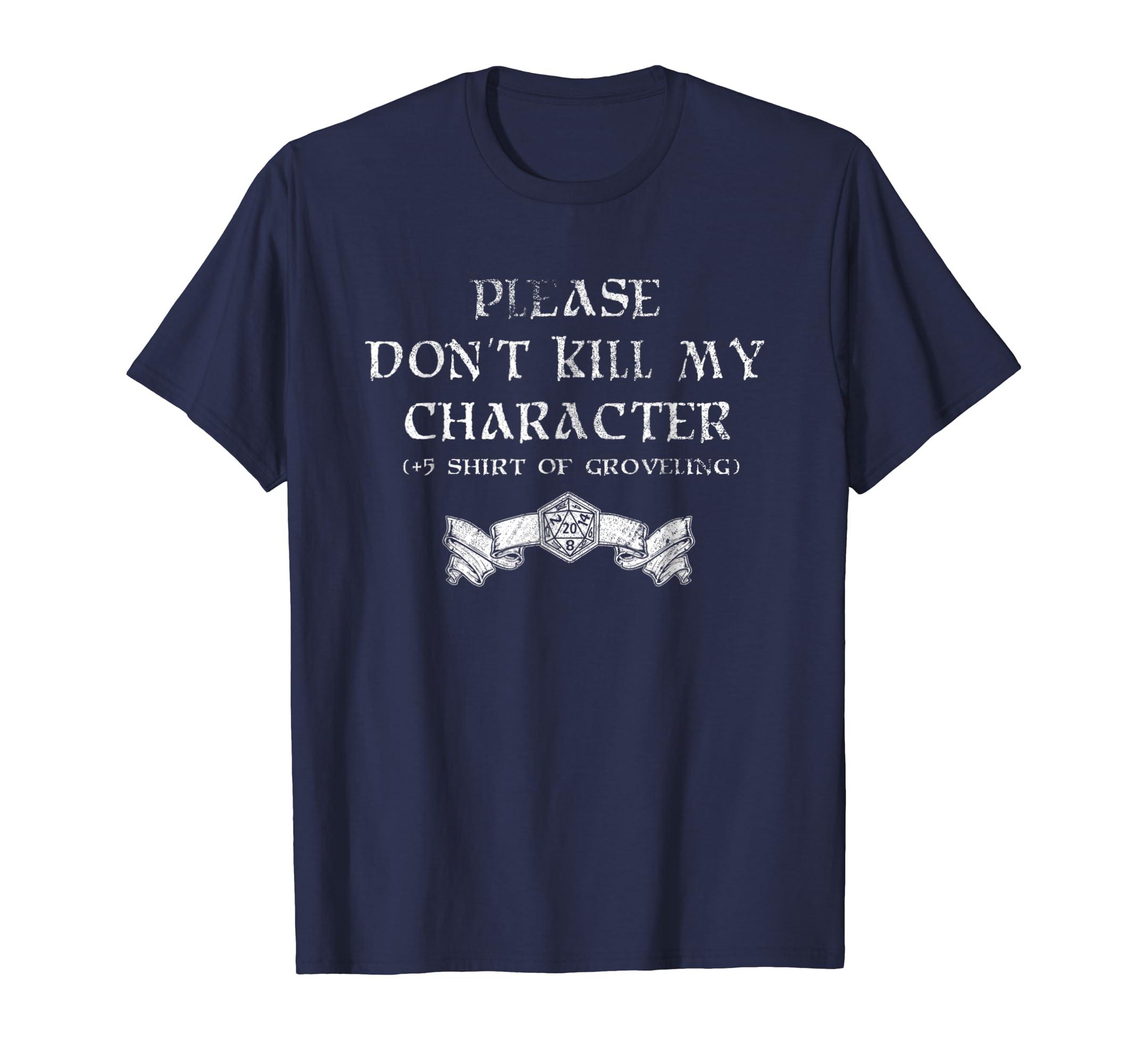 +5 Shirt of Groveling   Distressed Tabletop RPG T Shirt-azvn