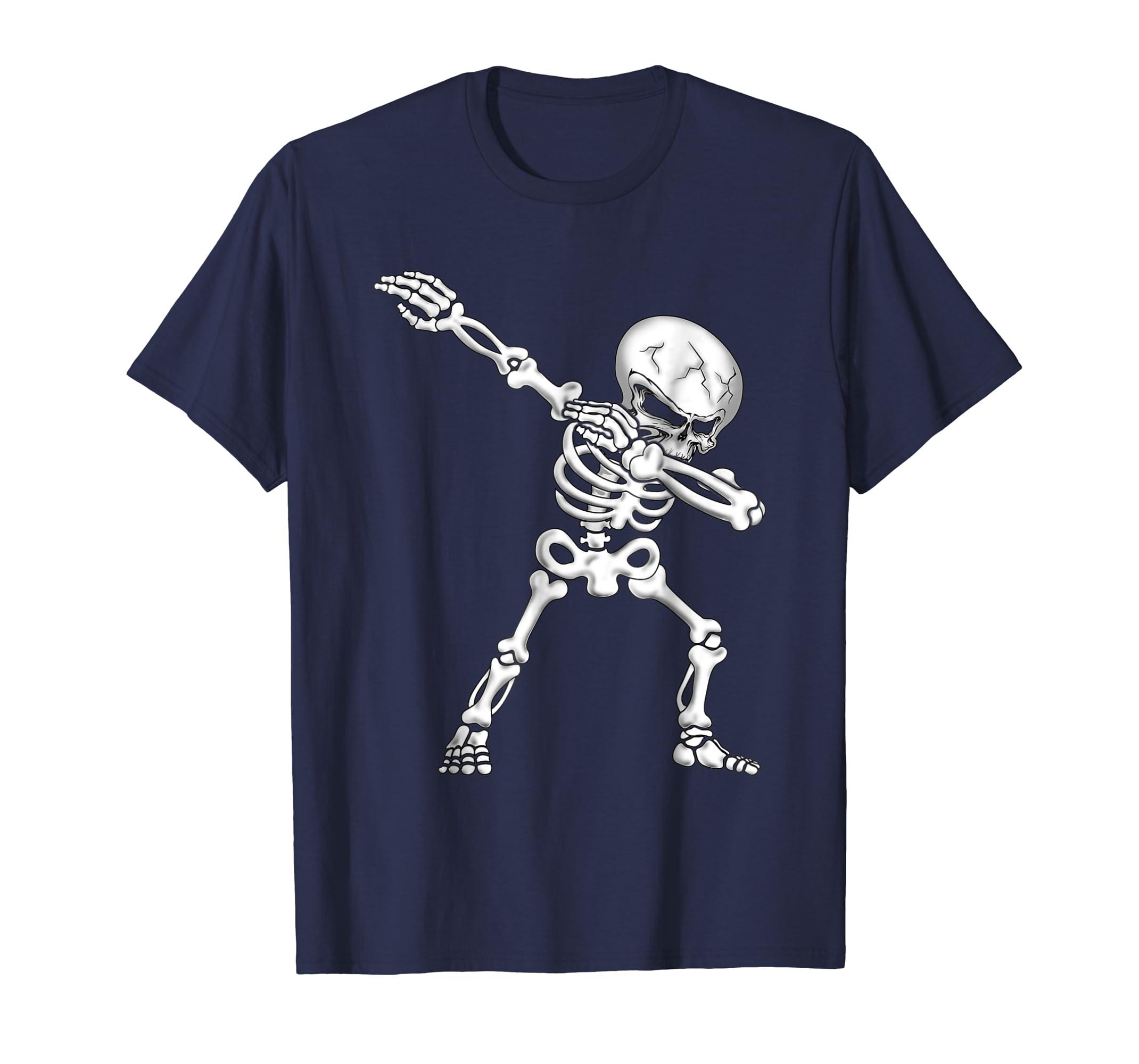 Dabbing Skull Hip Hop Skeleton Shirt Funny Dab Boys & Girls-azvn