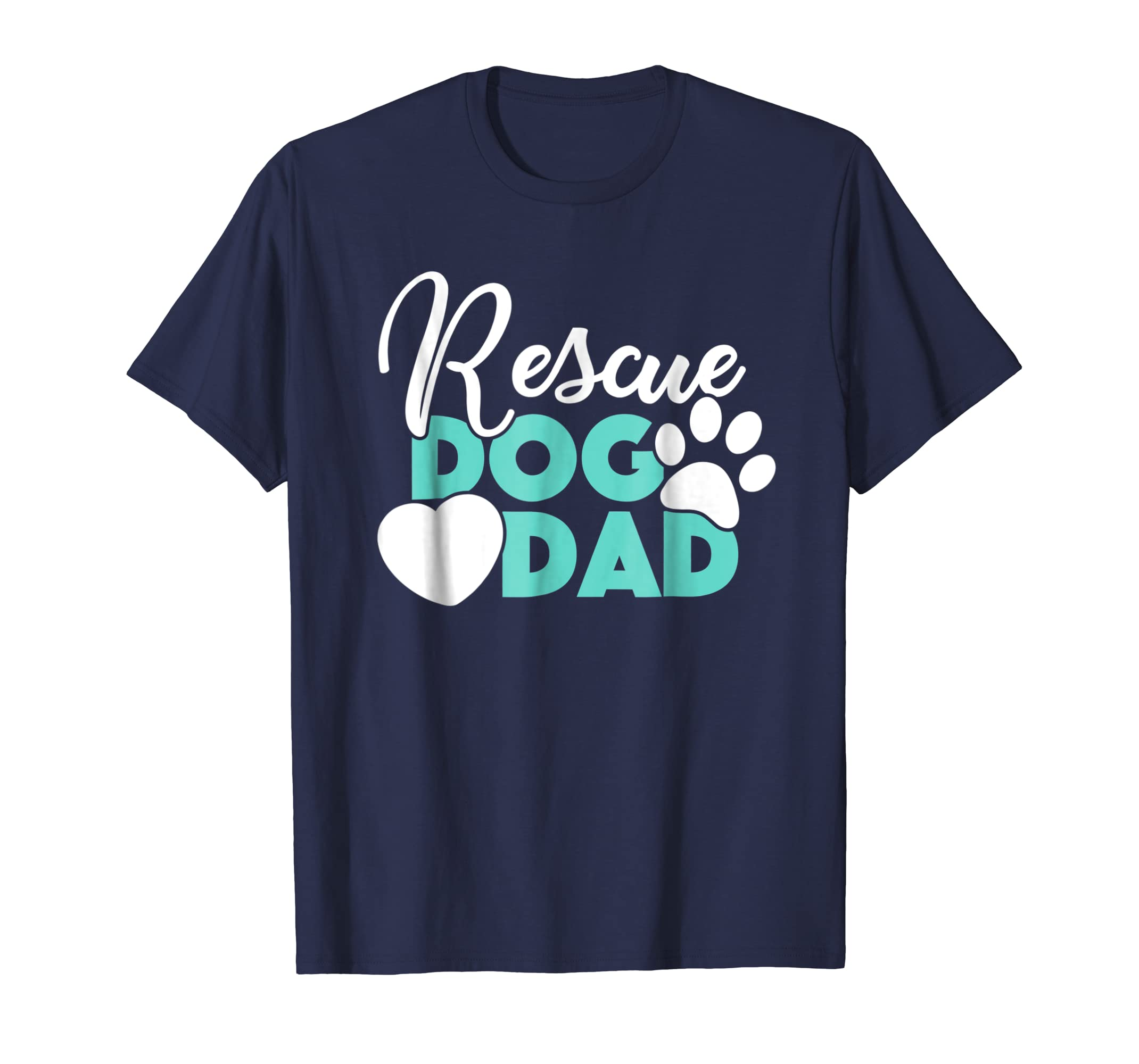 Dog Gift Shirt for Husband or Boyfriend Rescue Dog Dad Tee-AZP