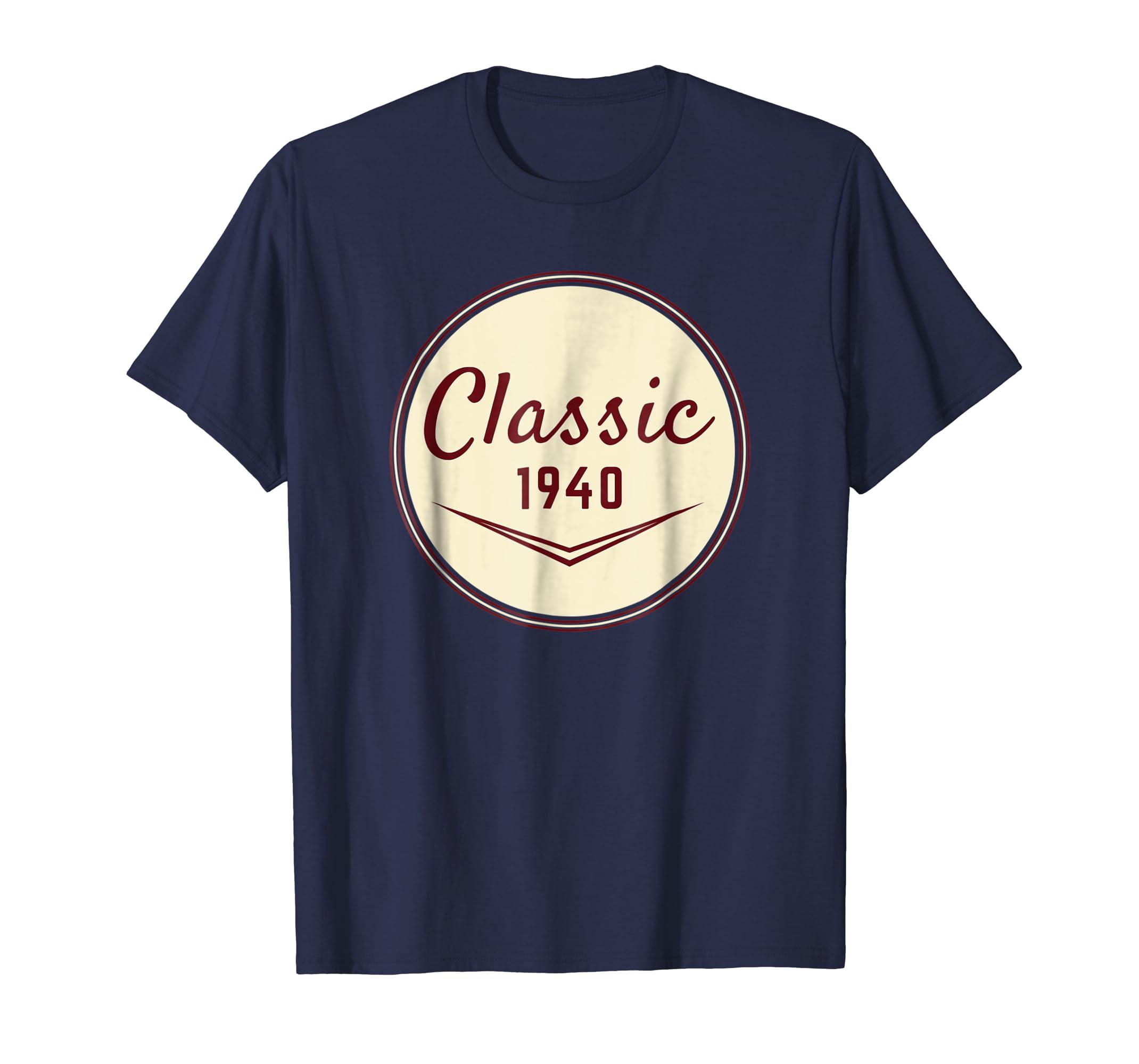 79th Birthday Gift Vintage Classic 1940 T Shirt-azvn