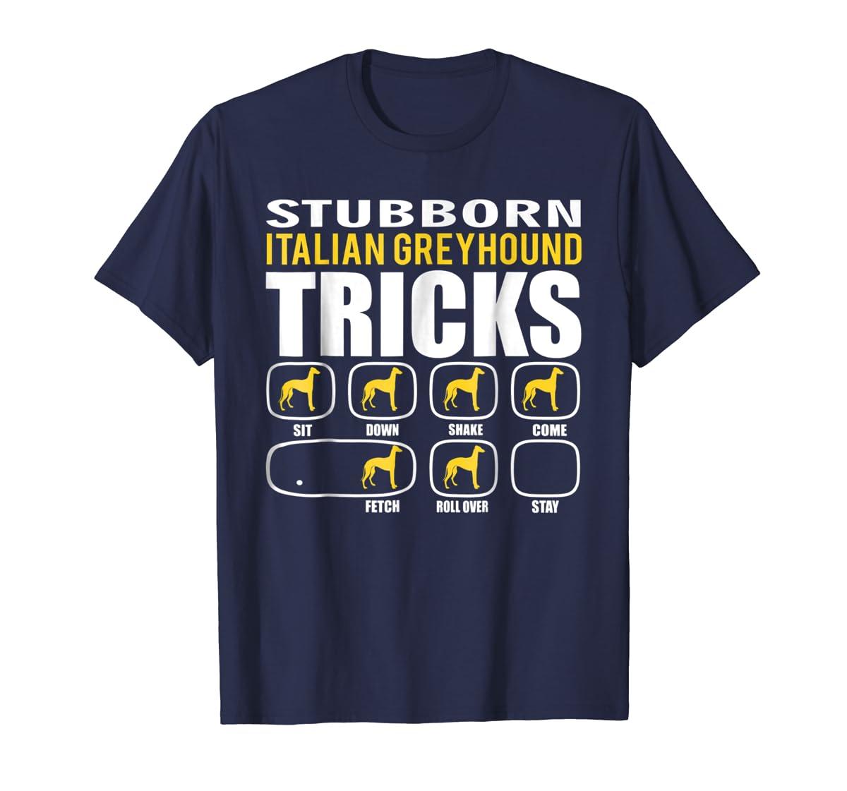 Funny Stubborn Italian Greyhound Tricks T-Shirt-Men's T-Shirt-Navy