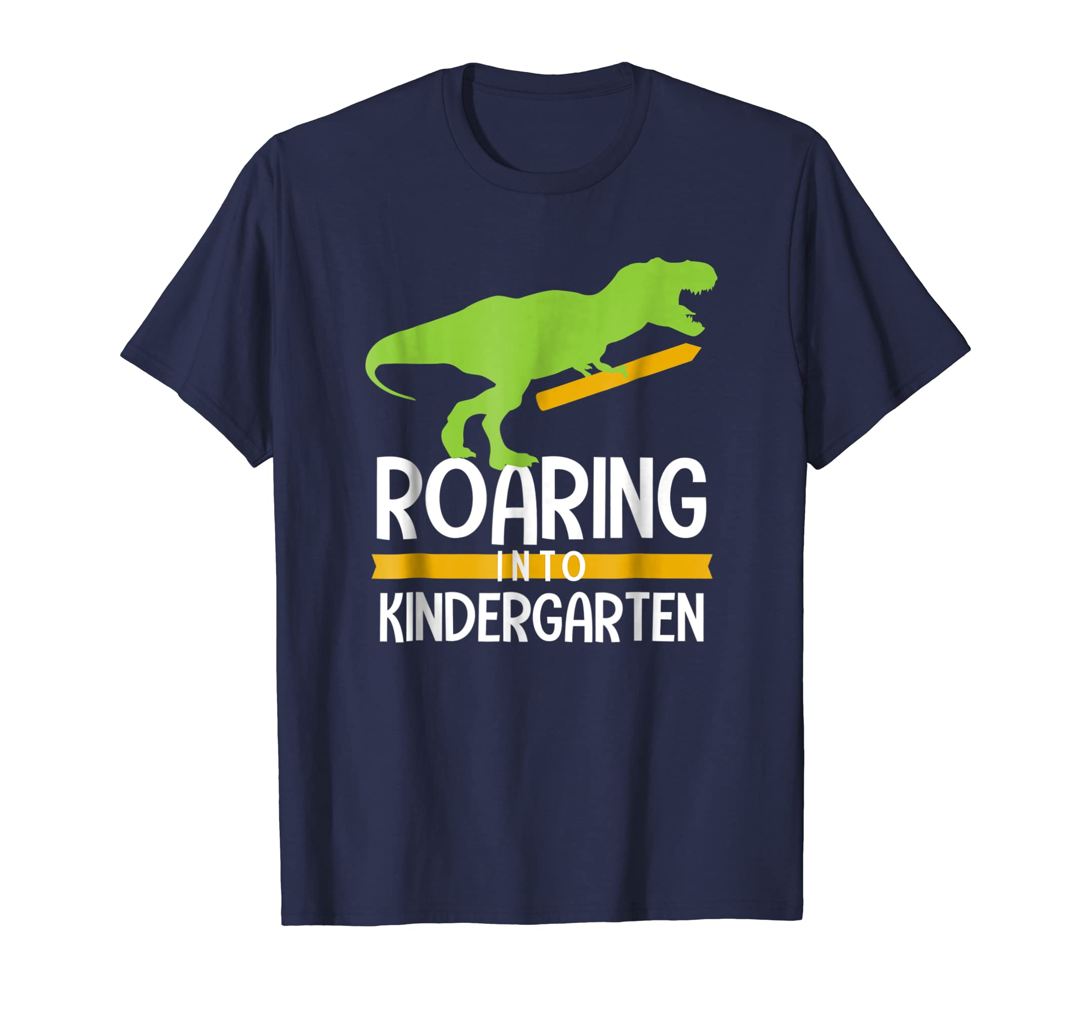 Back to School Shirt Dinosaur Roaring into Kindergarten T Re-Awarplus