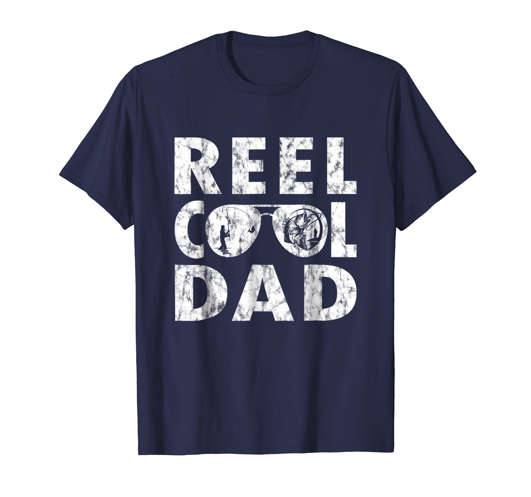 fb3778594 Amazon.com: Mens Reel Cool Dad T-Shirt Fishing Daddy Father's Day Gift S:  Clothing