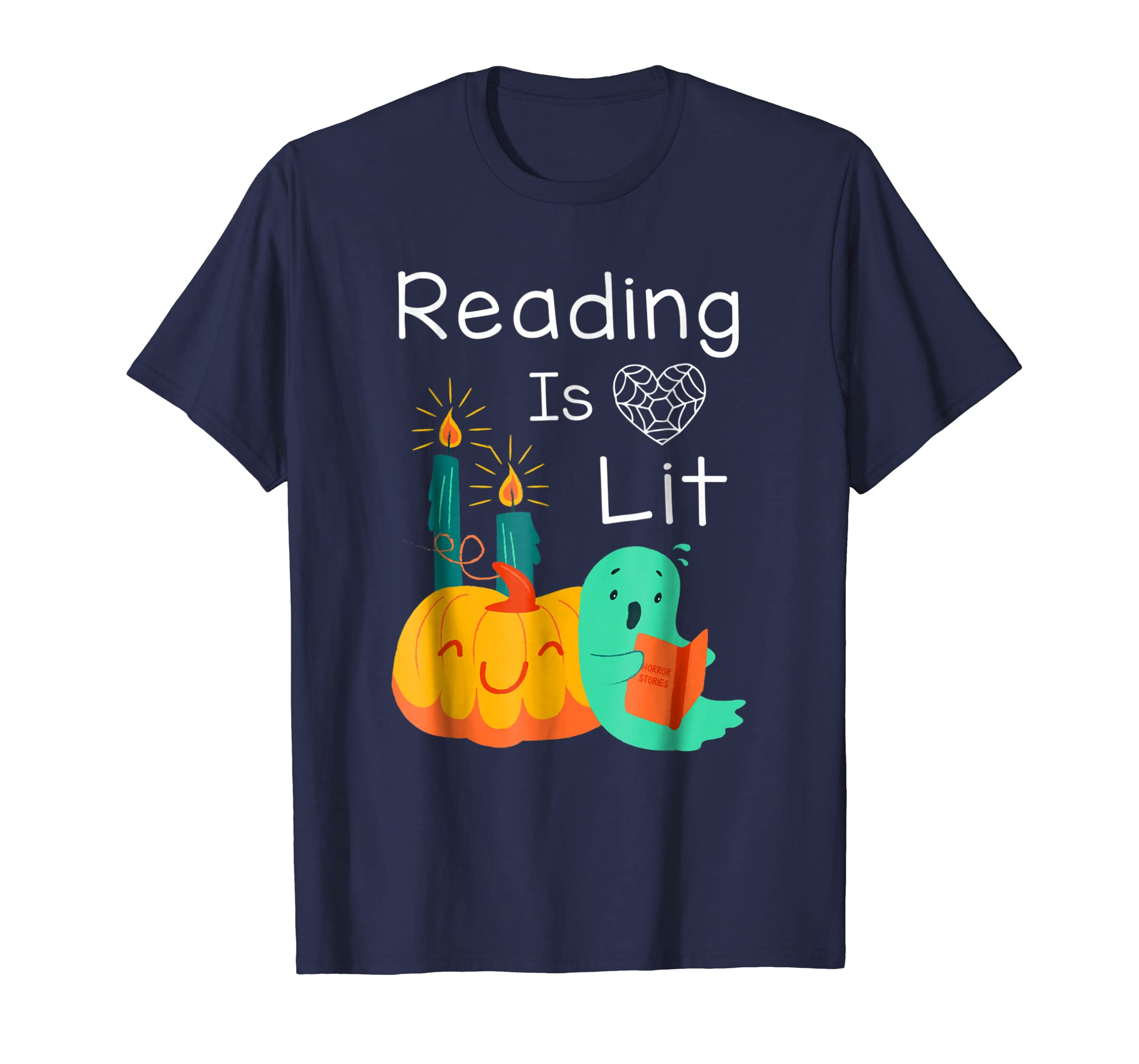 Teacher Librarian Halloween Costume Reading Is Lit Tshirts-Teechatpro