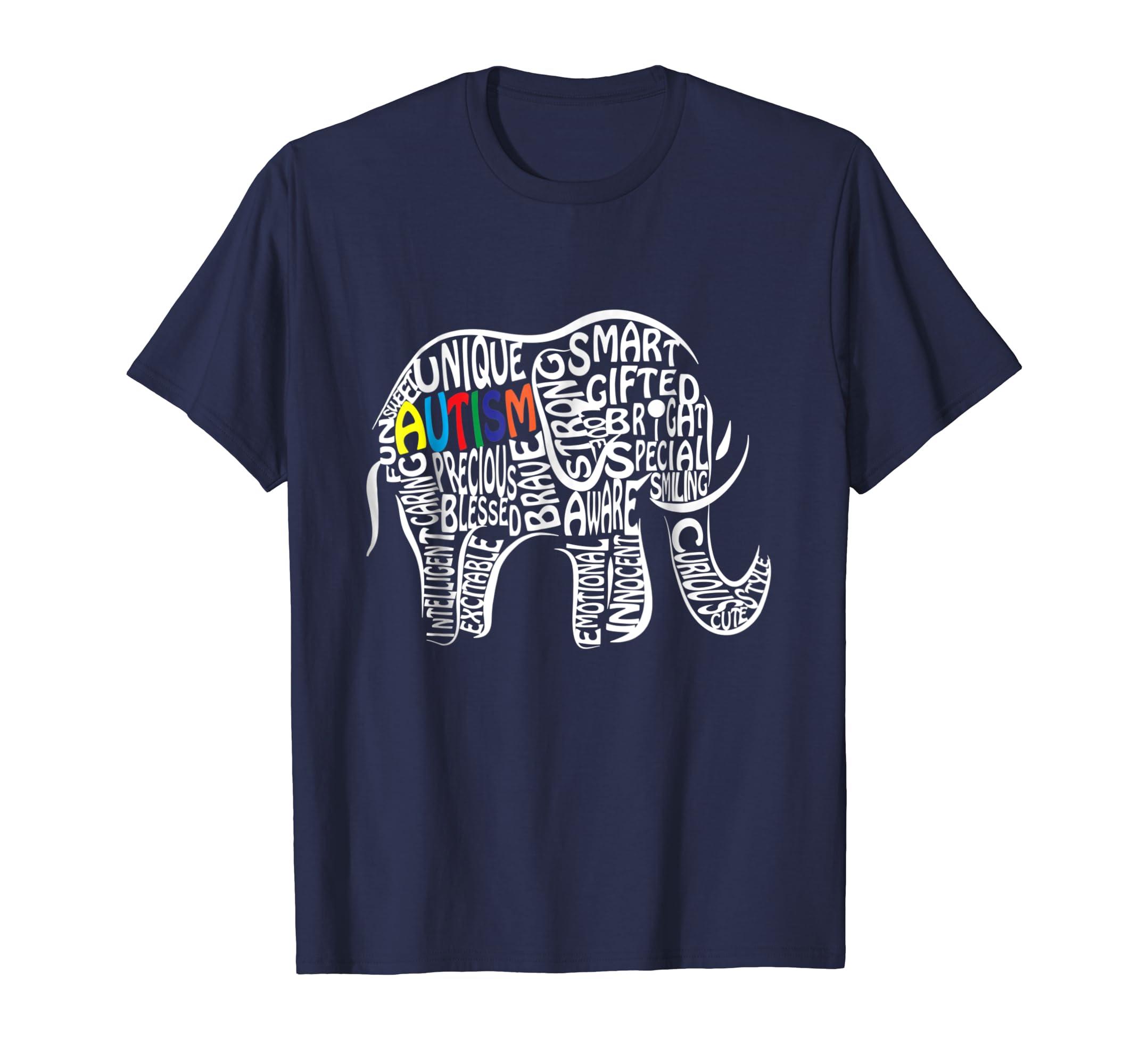 Autism Awareness Elephant T Shirt-azvn