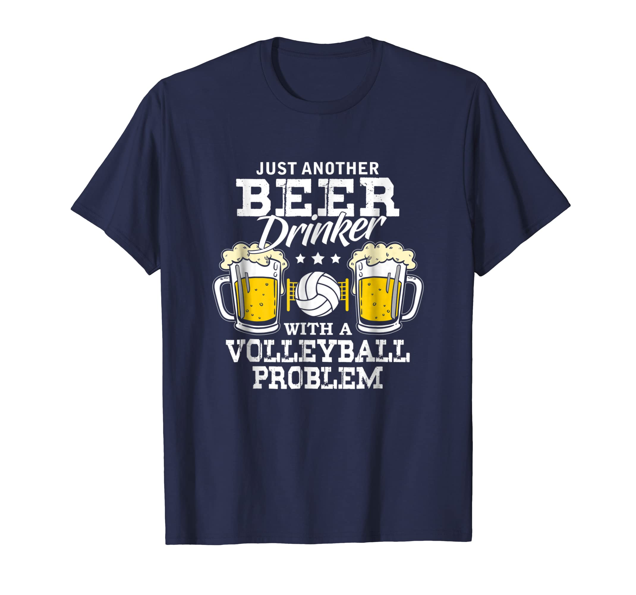 Beer Drinker With A Volleyball Problem Funny Gift Shirt-azvn