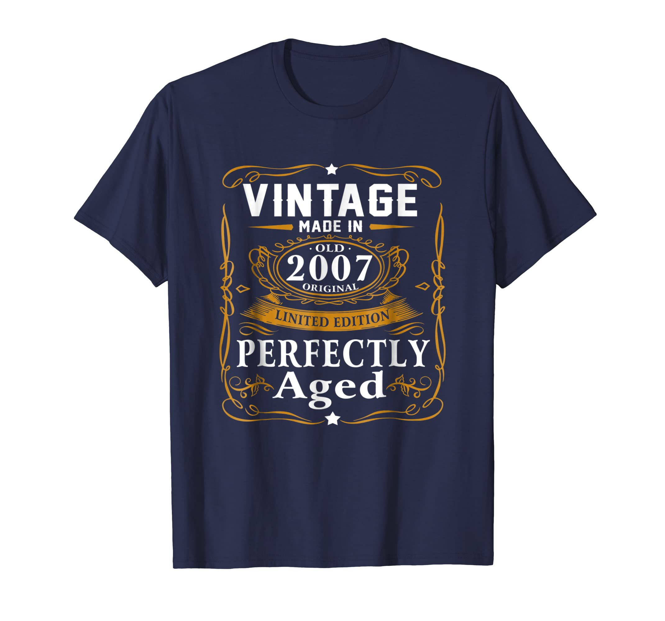 12th Birthday Gift Vintage 2007 Year T Shirt Men Women-azvn