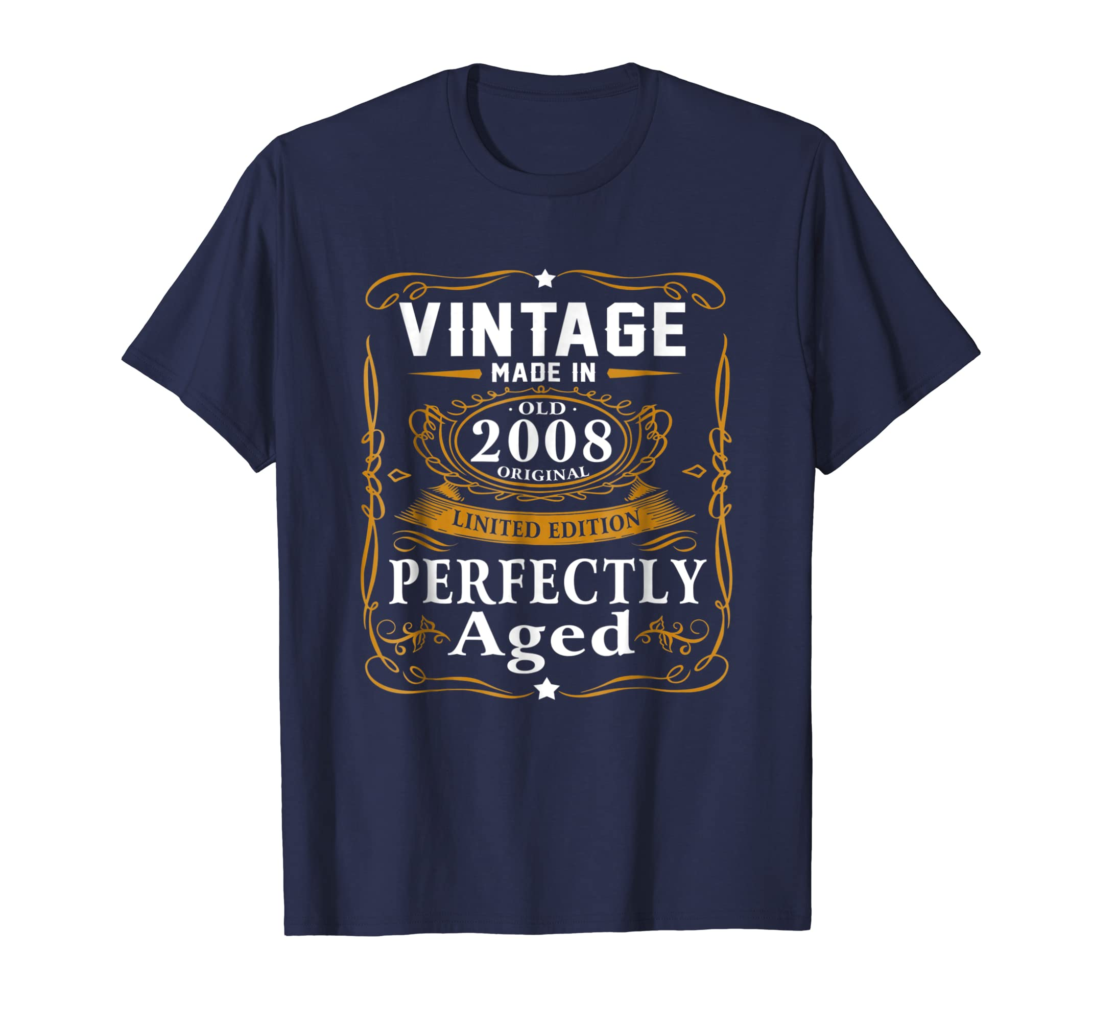 11th Birthday Gift Vintage 2008 Year T Shirt Men Women-azvn