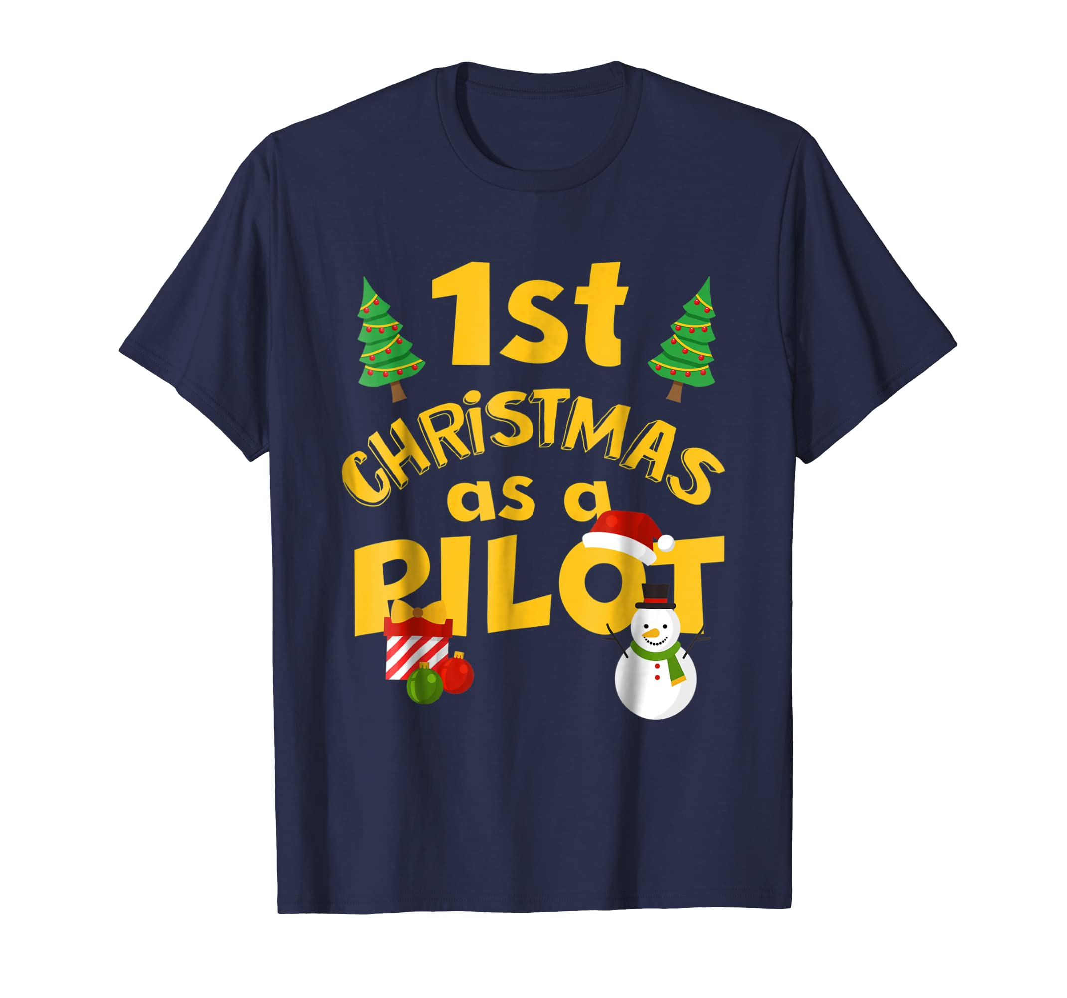 1st Christmas As A Pilot Shirt. Proud New Pilot Gift-azvn