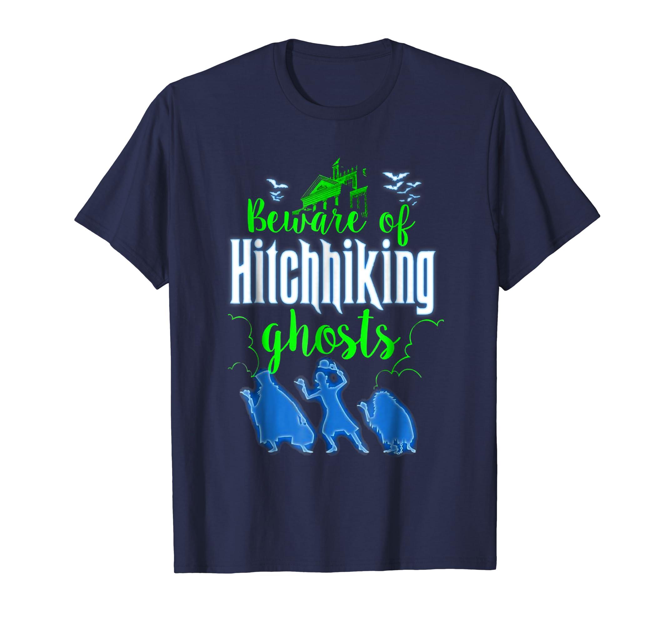 Beware Of Hitchhiking Ghosts Halloween Costume Funny Shirt-Teesml
