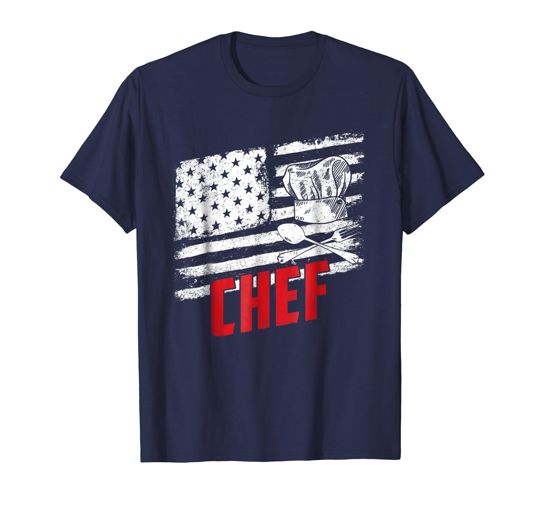 Vintage Chef American Flag T-shirt-SFL