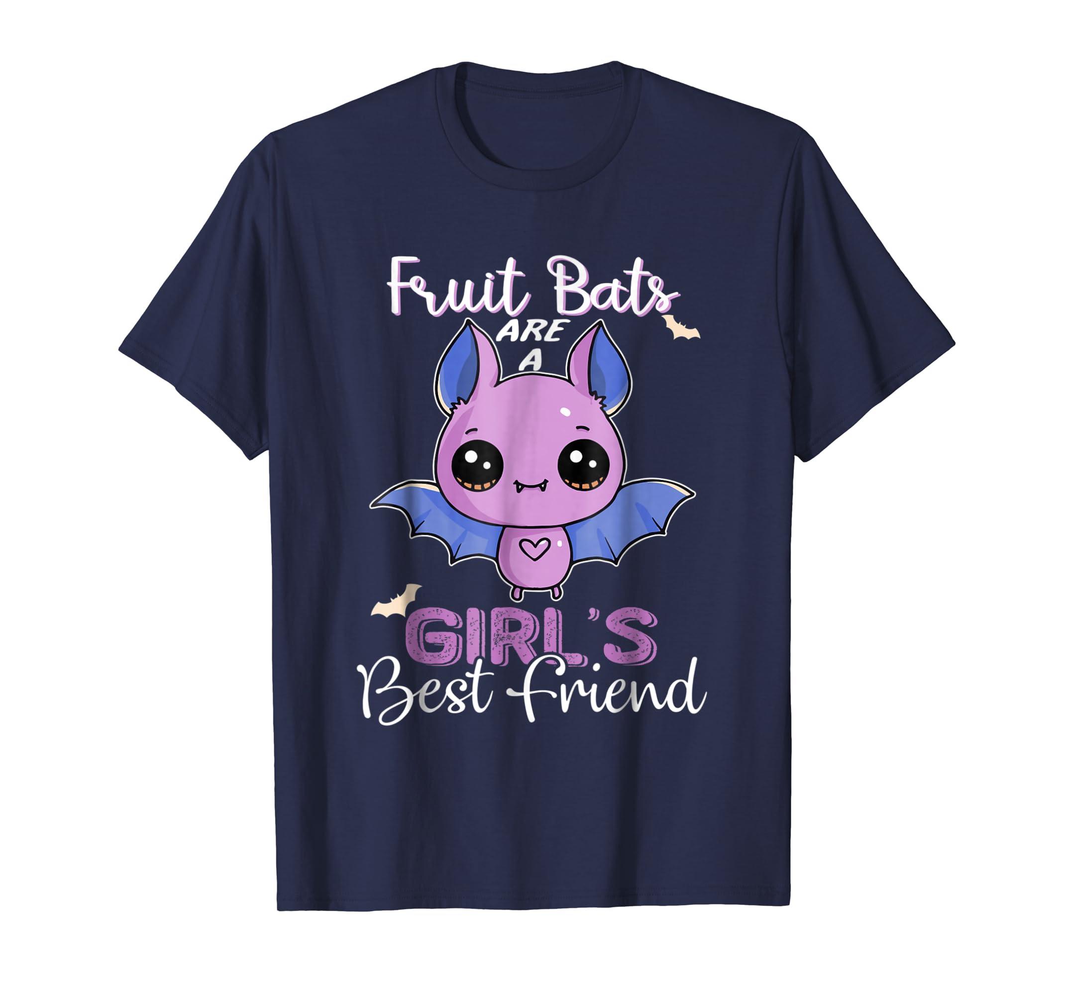 Fruit Bats Shirt - Are A Girls Best Friend Kids Cute Spooky-mt