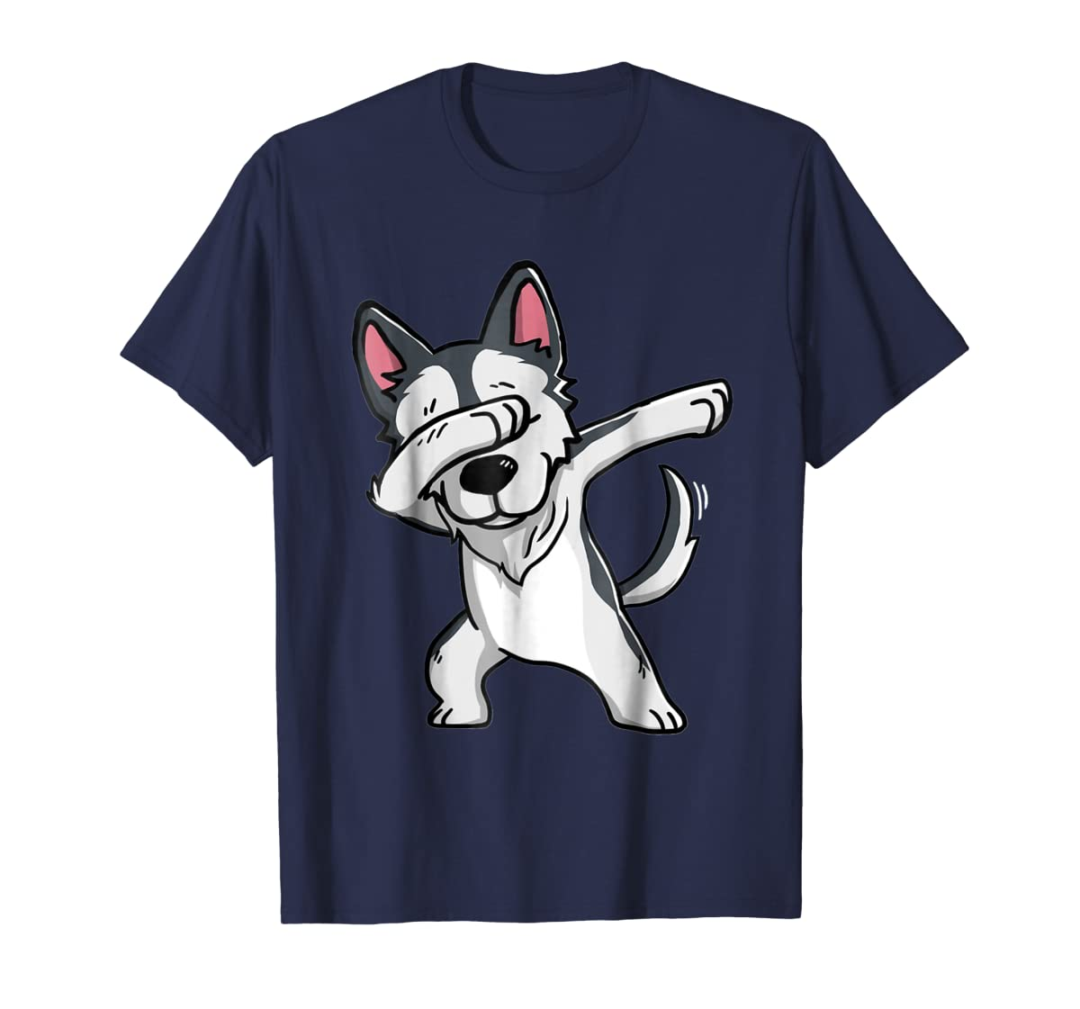 Dabbing Siberian Husky T-Shirt Husky Kids Costume-Men's T-Shirt-Navy