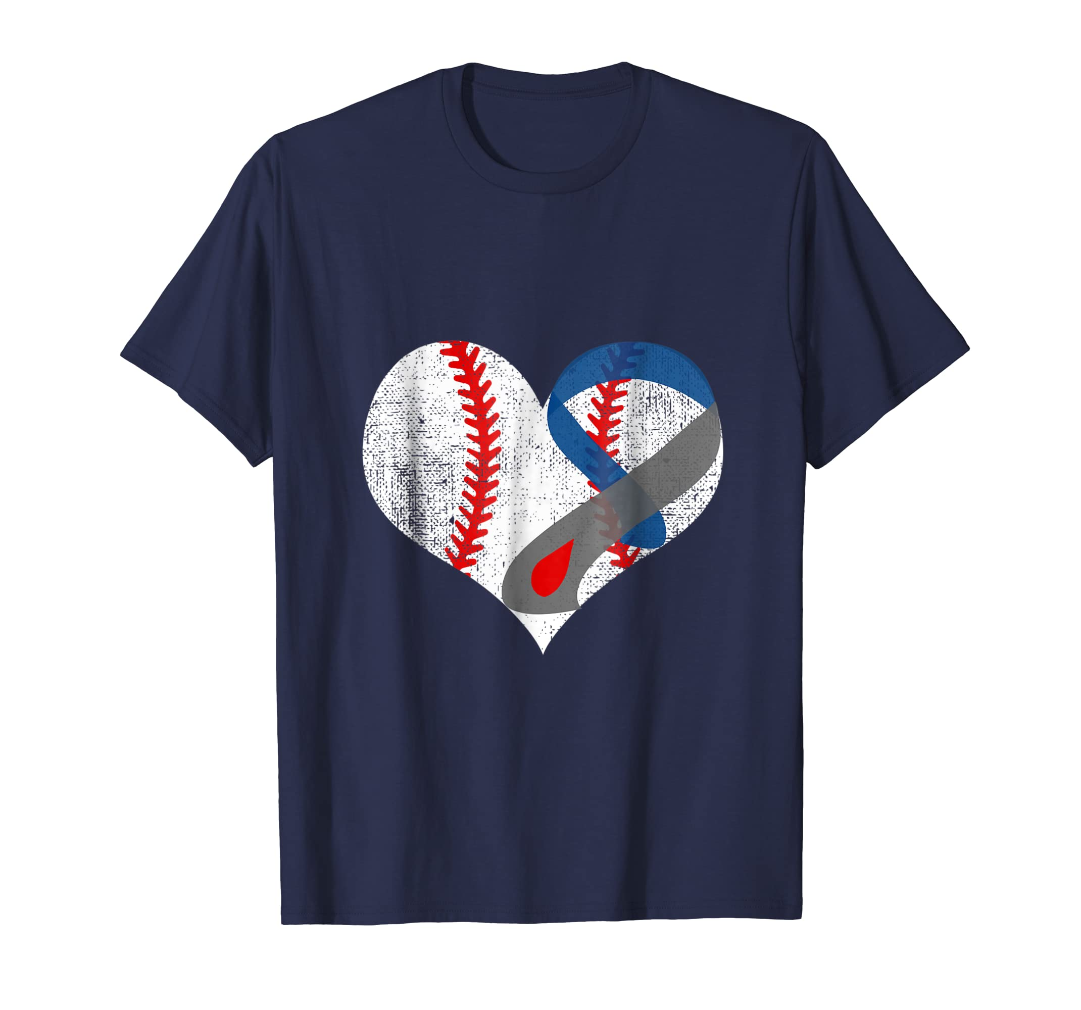 Diabetes Awareness Grey Ribbon Baseball Shirt-azvn