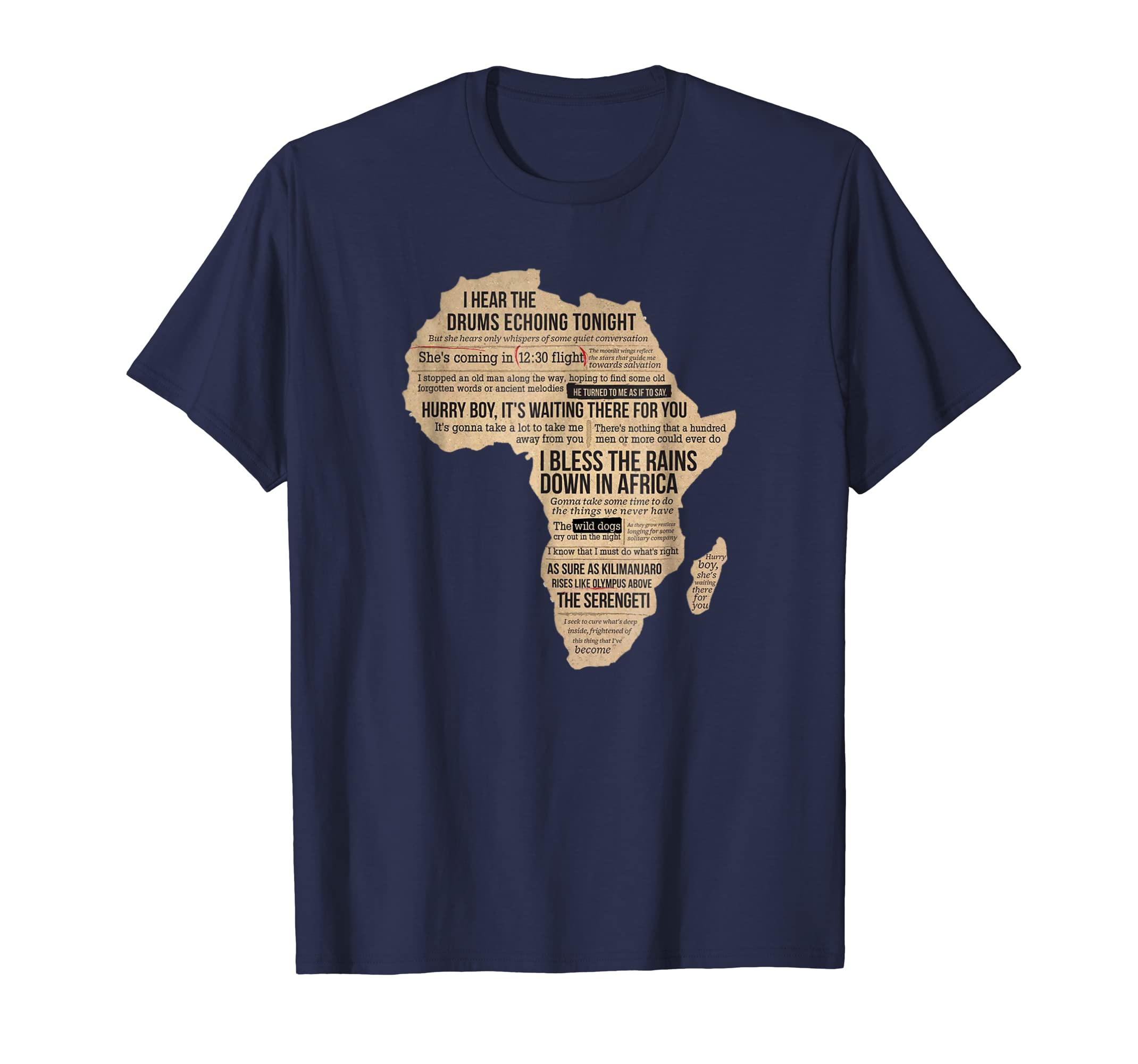 Africa T Shirt Bless Africa Rains On Toto-mt
