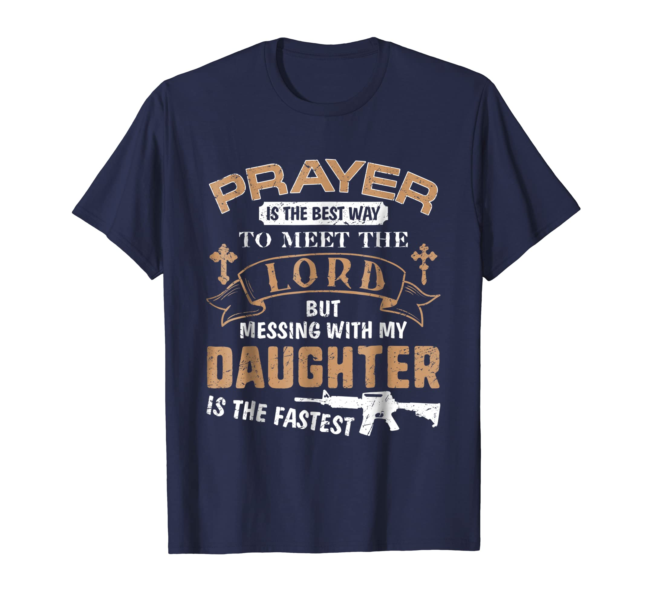 24523dbc Amazon.com: Father Proud Daddy Tee If You Mess My Daughter Gift T Shirts:  Clothing