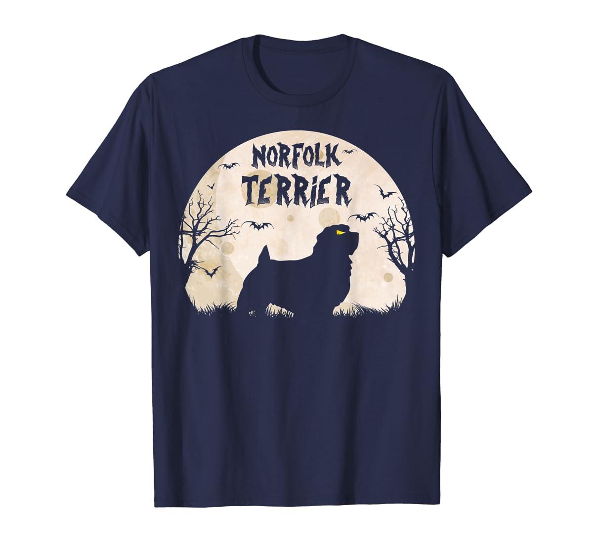 Halloween Horror Norfolk Terrier T-Shirt-Men's T-Shirt-Navy