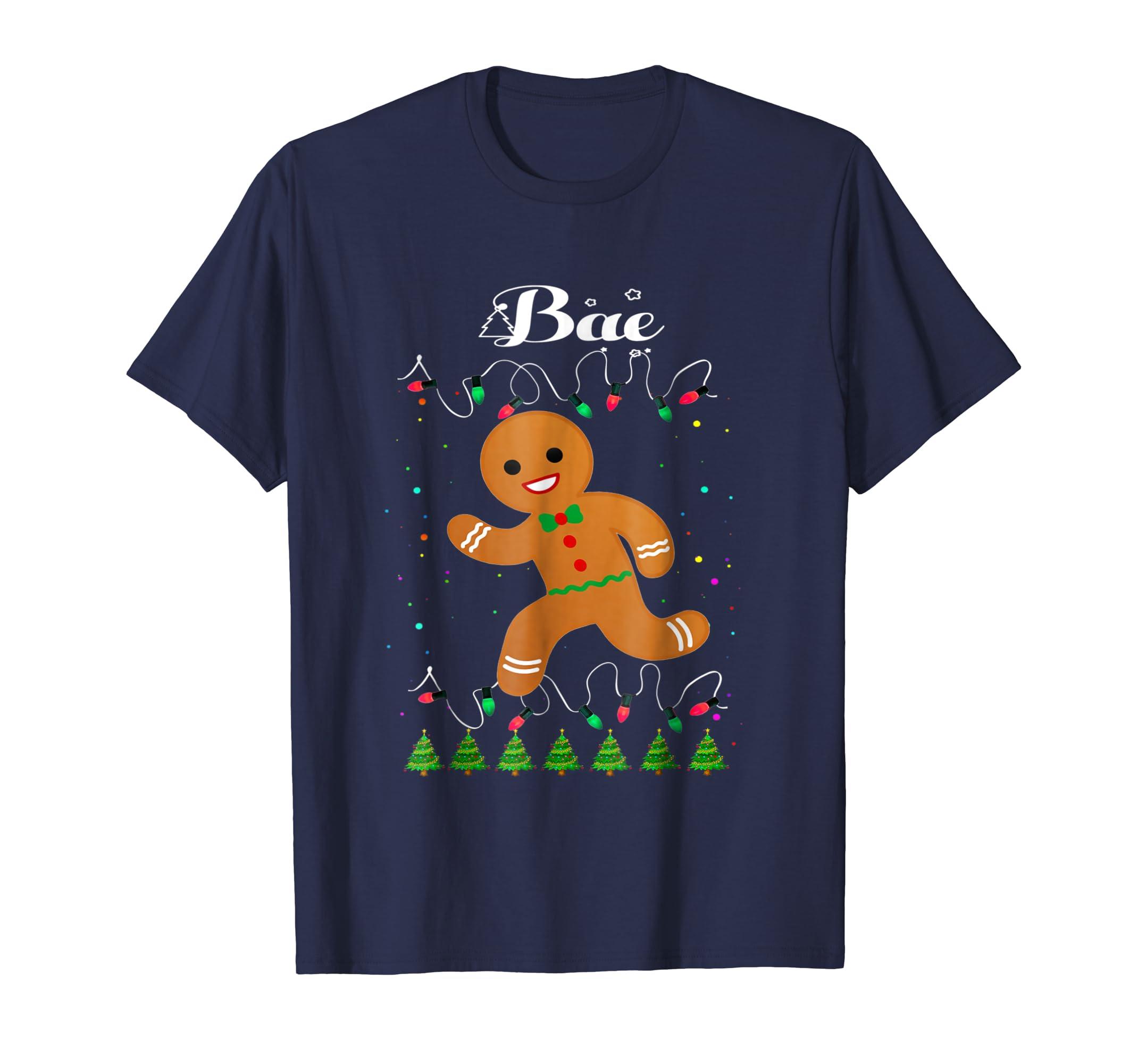 Bae Gingerbread Man Matching Family Christmas Squad T Shirt-azvn