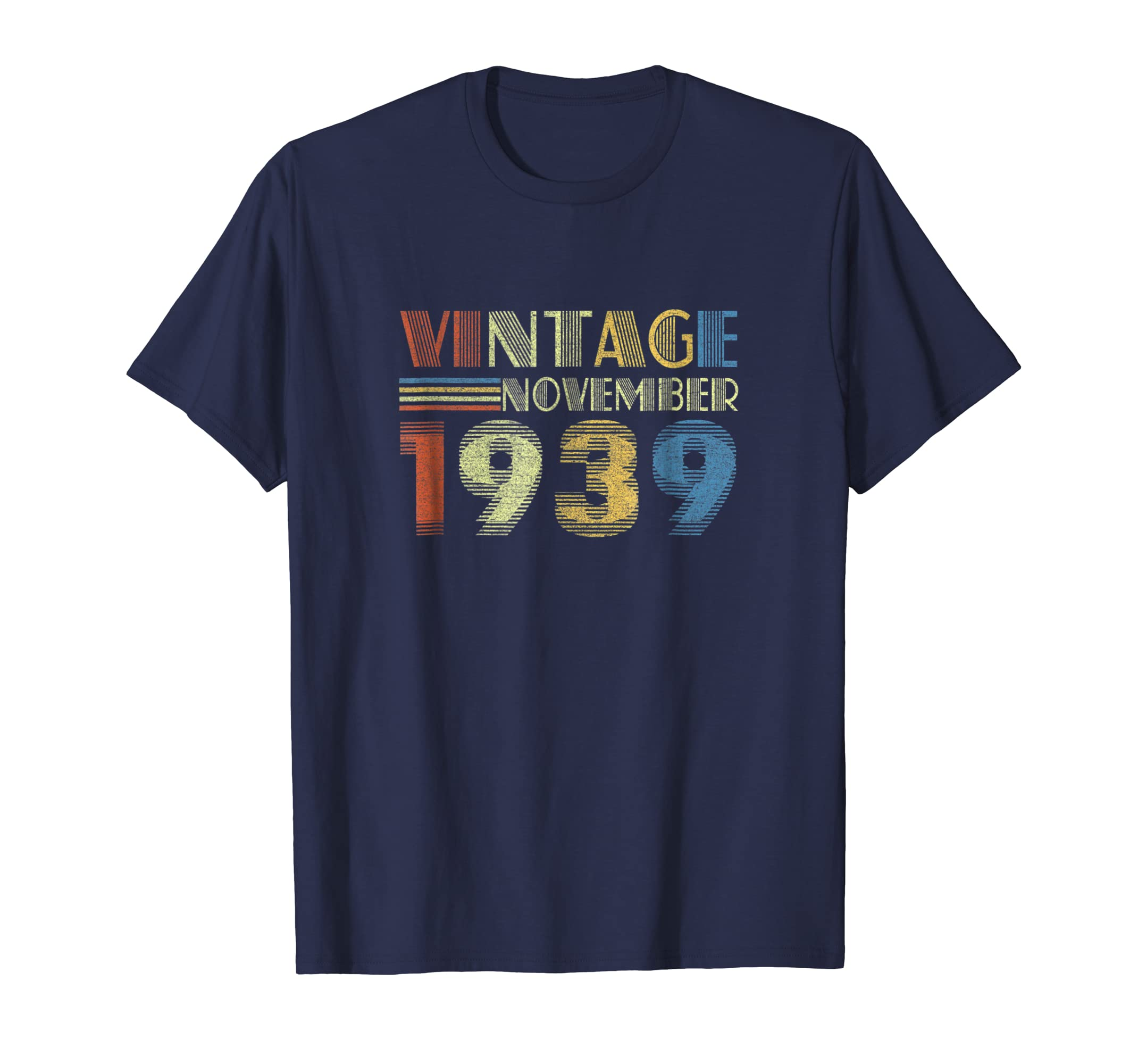 1939 November Vintage Funny 79th Birthday Gift T Shirt-azvn