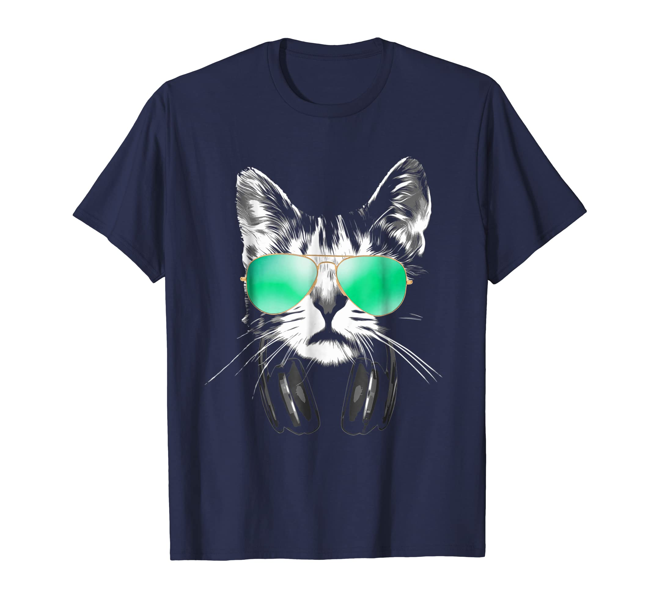 DJ Cat With Sunglasses And Headphones T-Shirt-AZP