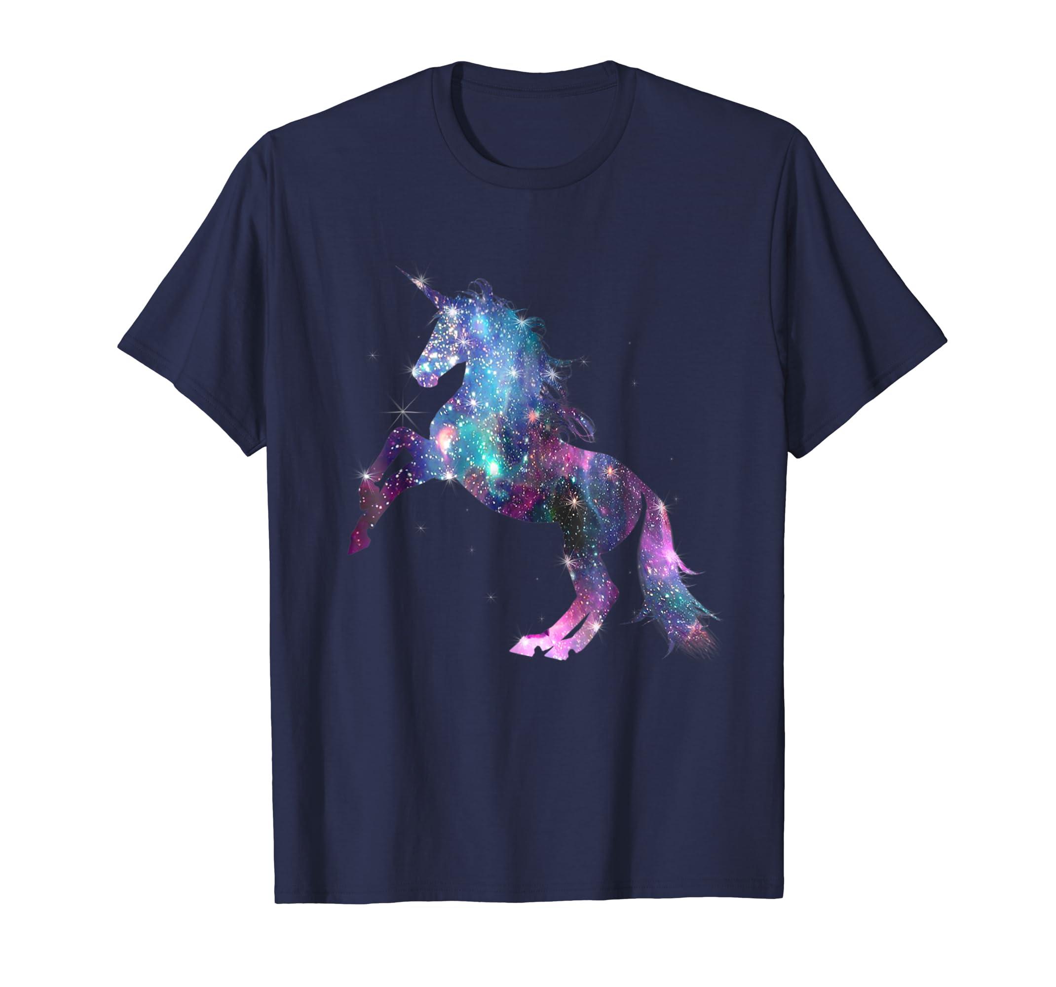 Awesome Rainbow Unicorn Galaxy Sparkle Star T Shirt-azvn