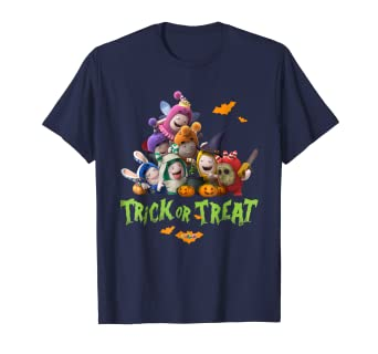 787ad9ca9 Image Unavailable. Image not available for. Color: Oddbods Halloween Trick  or Treat Cool Graphic Tees ...