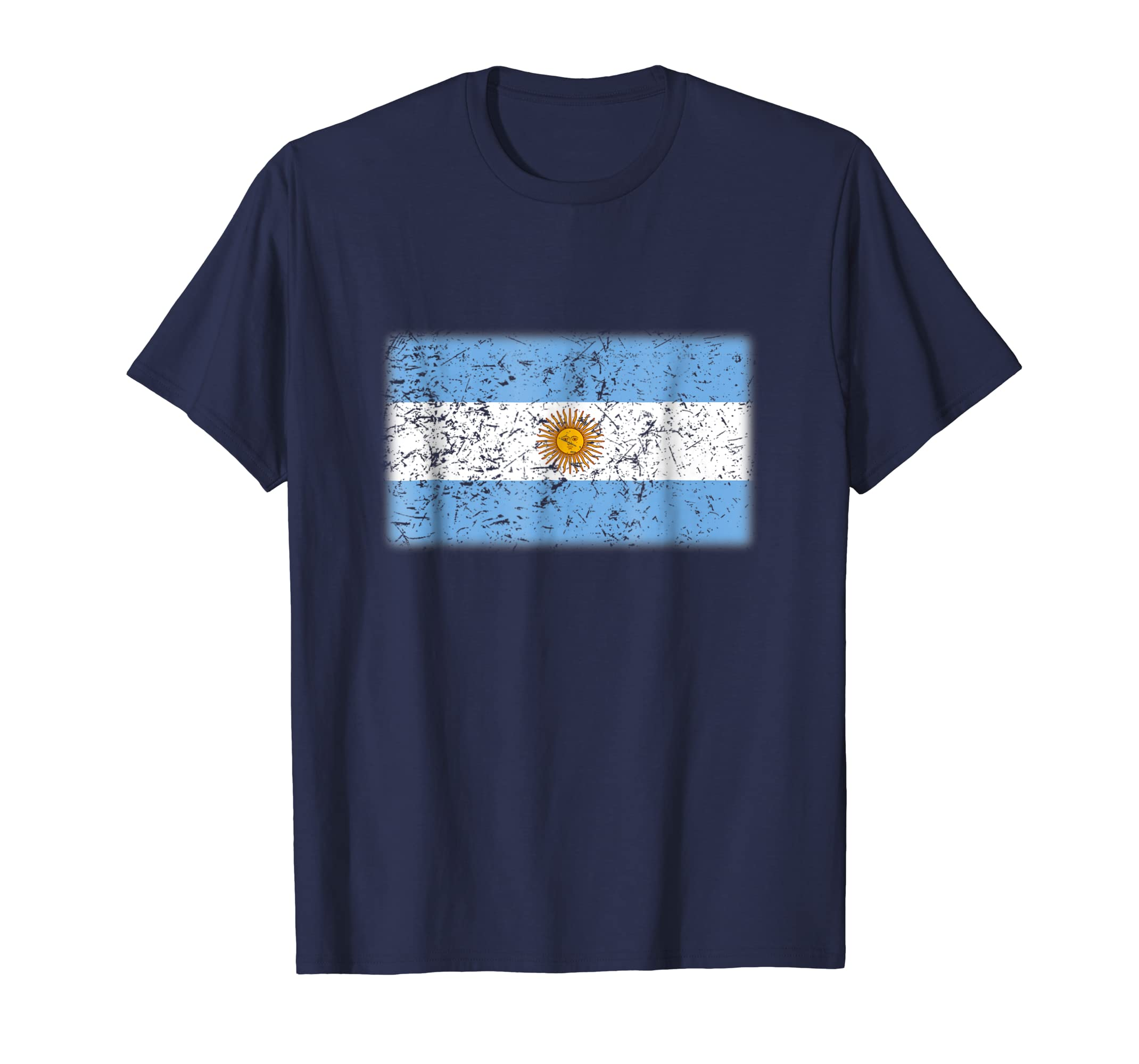 Argentina Flag T Shirt | Vintage Made In Argentina Gift-azvn