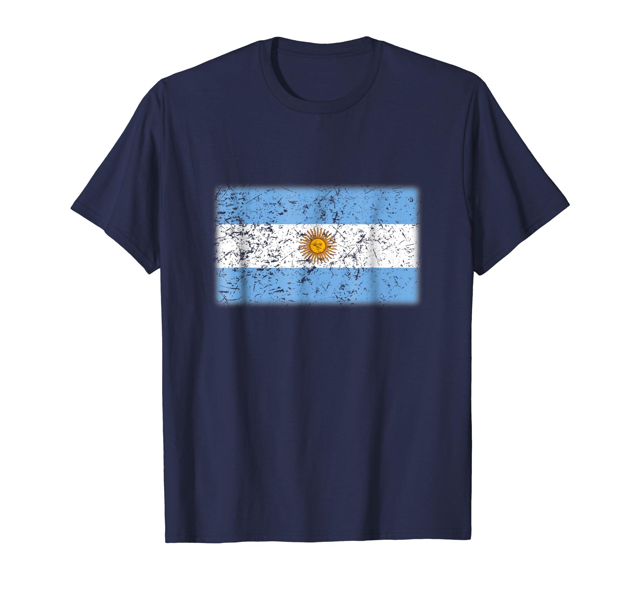 Argentina Flag T Shirt   Vintage Made In Argentina Gift-azvn