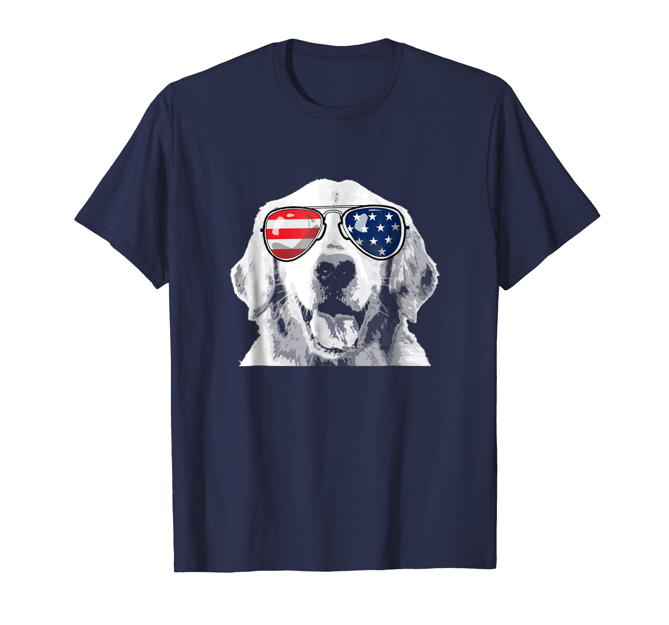 Patriotic Golden Retriever Dog T-Shirt 4th of july