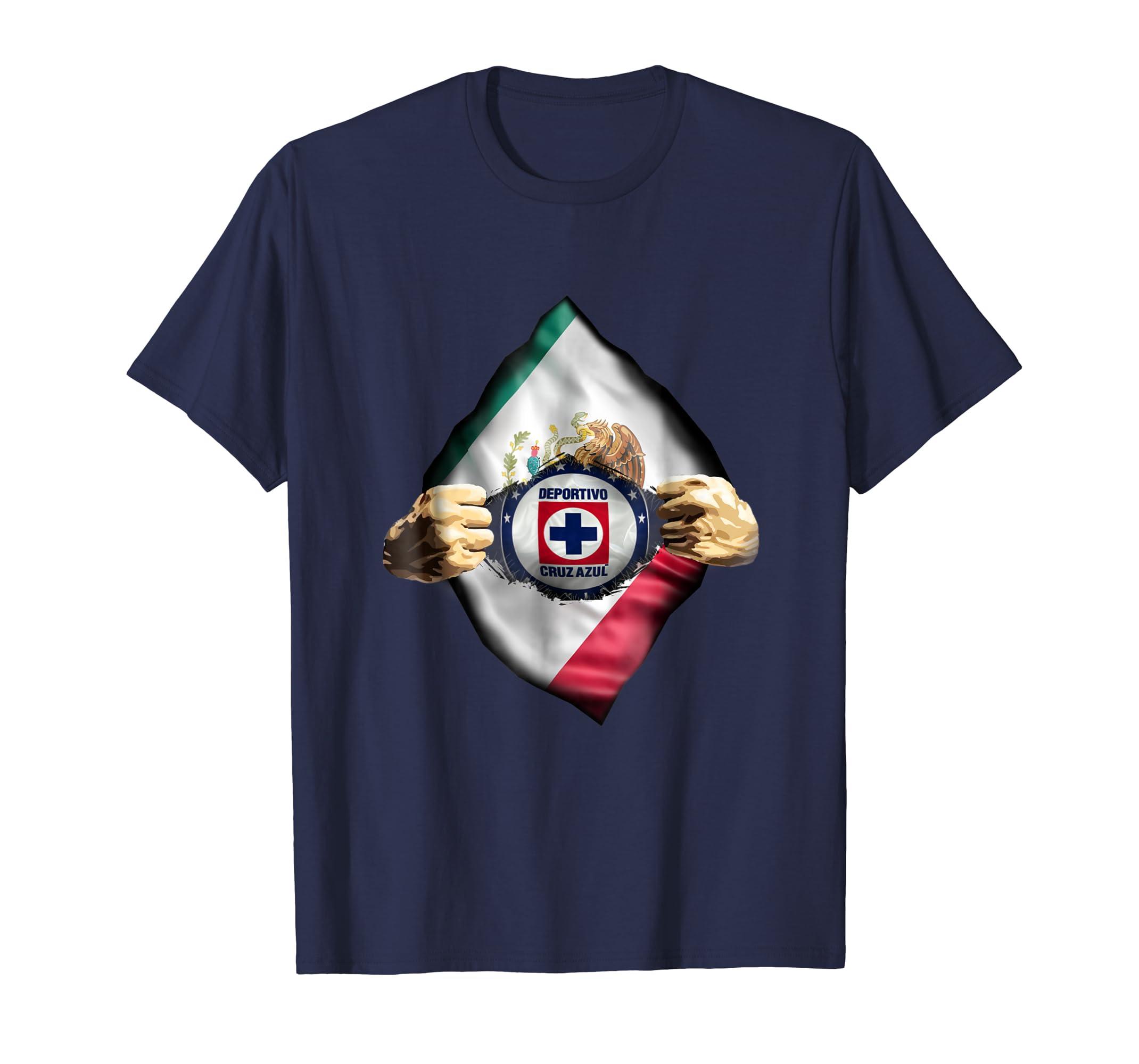 fd4df98c6 Amazon.com  Cruz Azul Shirt Heartbeat Love Funny Fan- Cruz Azul fc  Clothing