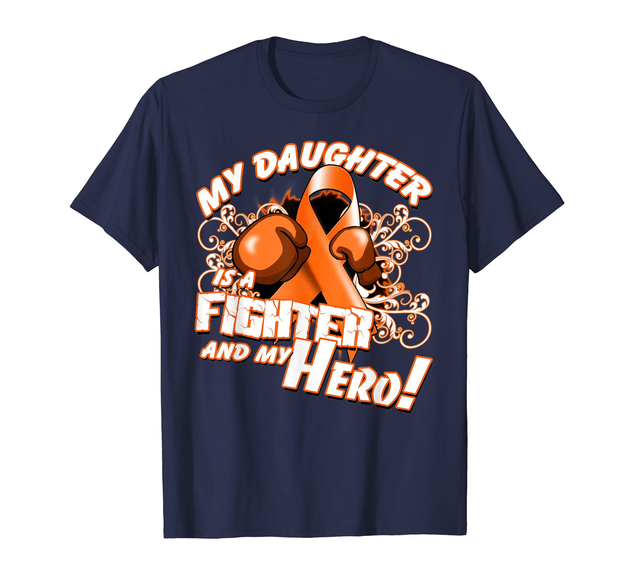Daughter Fighter & Hero Leukemia Cancer Awareness Shirt-Teehay
