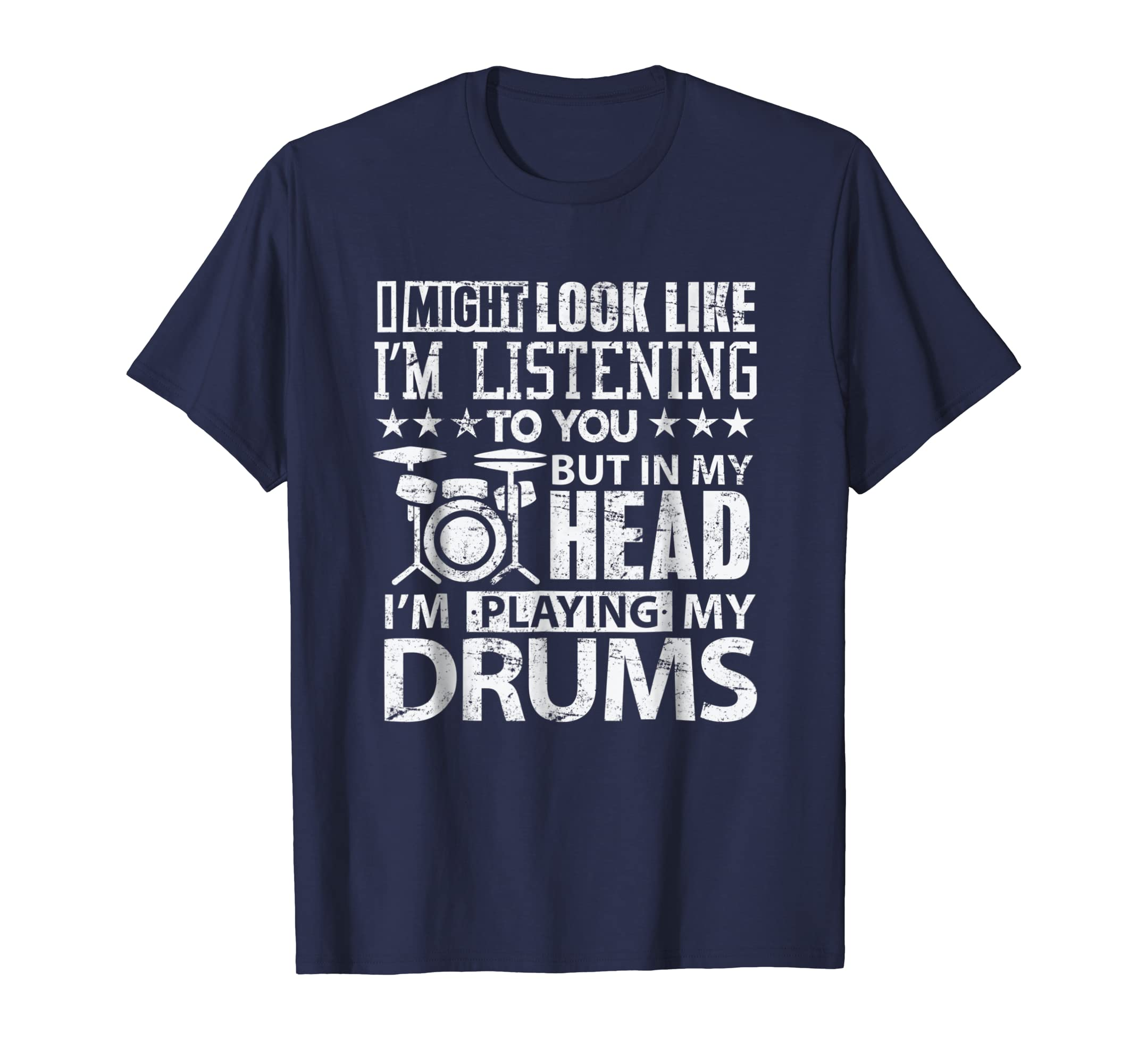 In My Head I'm Playing My Drums T Shirt gift for Drummers-azvn