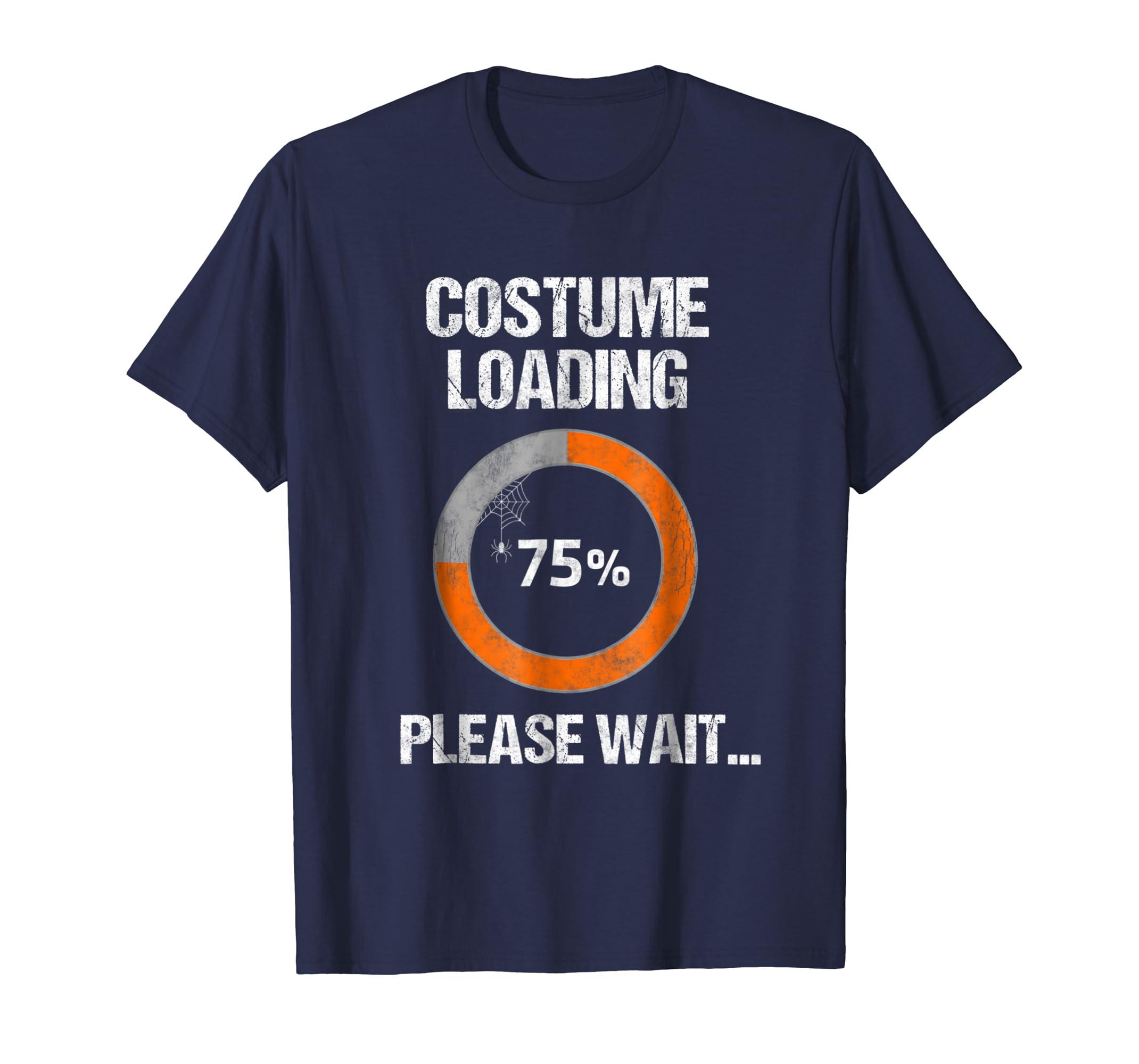 Costume Loading Please Wait   Halloween Nerd Geek T Shirt-azvn
