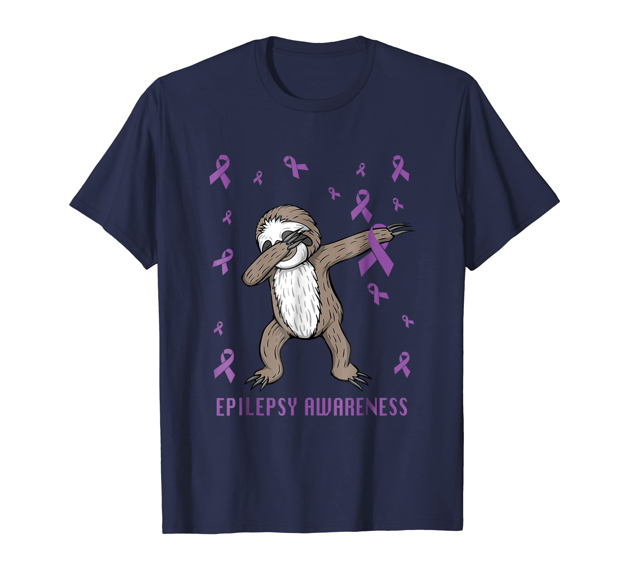 funny epilepsy awareness t shirt dabbing sloth warrior gift-azvn