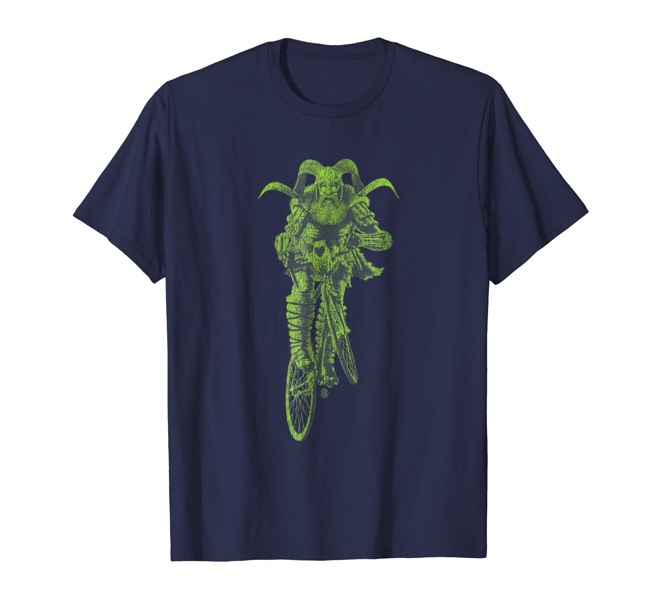 Viking Bicycle Club T Shirt: Epic Mountain Bike Design #07-azvn