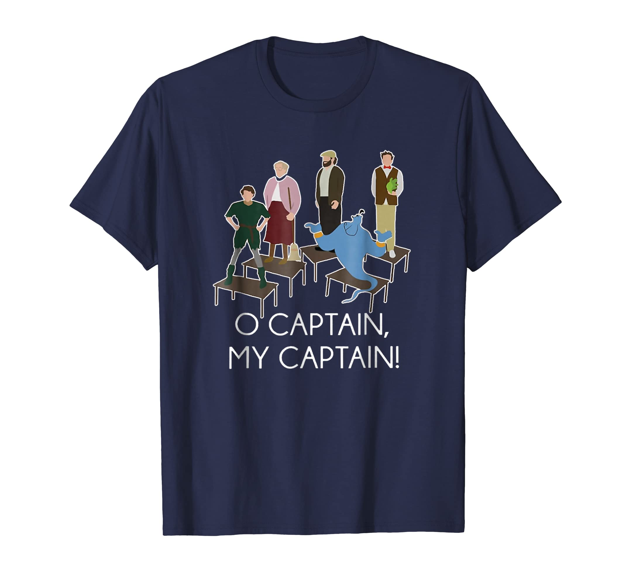 Funny O Captain My Captain T Shirt Gift for Women Men-Protee