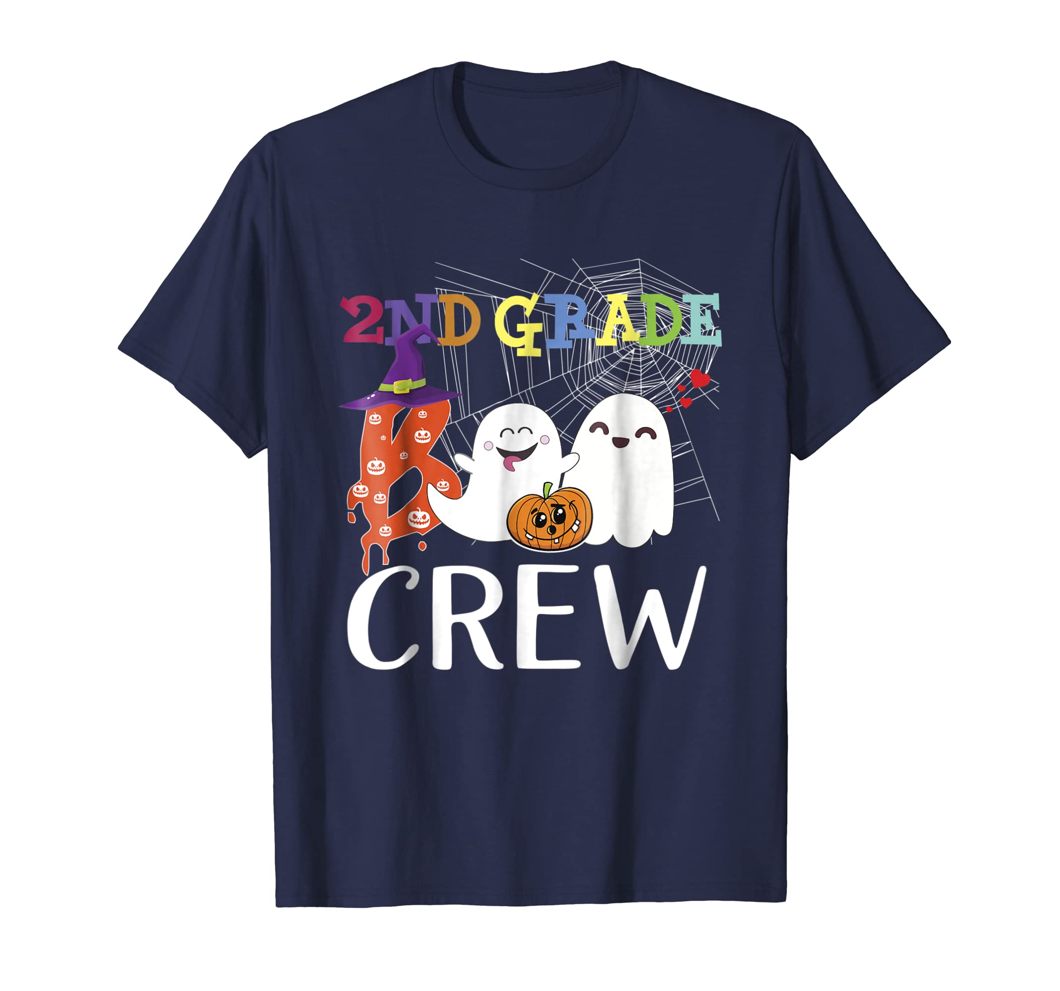 2nd Grade Crew Second Grade Teacher Shirt Halloween Costume-azvn