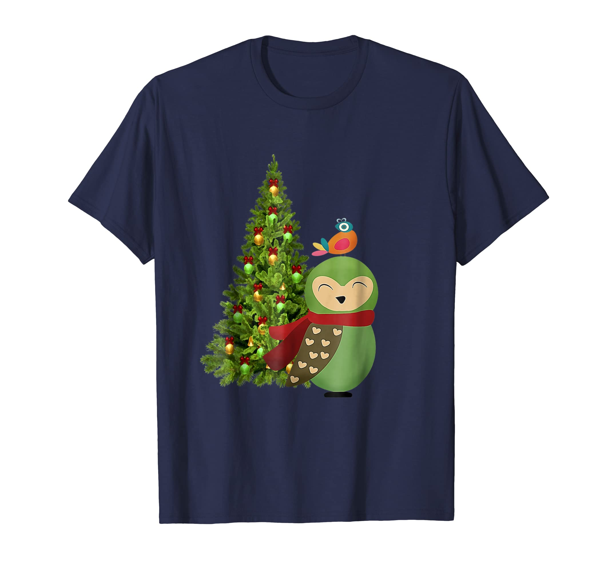 Christmas Owl Bird Matching Family Pajama T Shirt-azvn