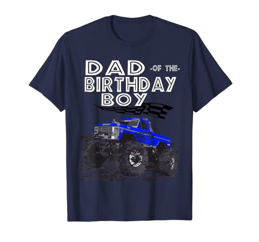 0a91d6af Image Unavailable. Image not available for. Color: Birthday Boy Racing Car  Truck Costume Dad T shirt ...