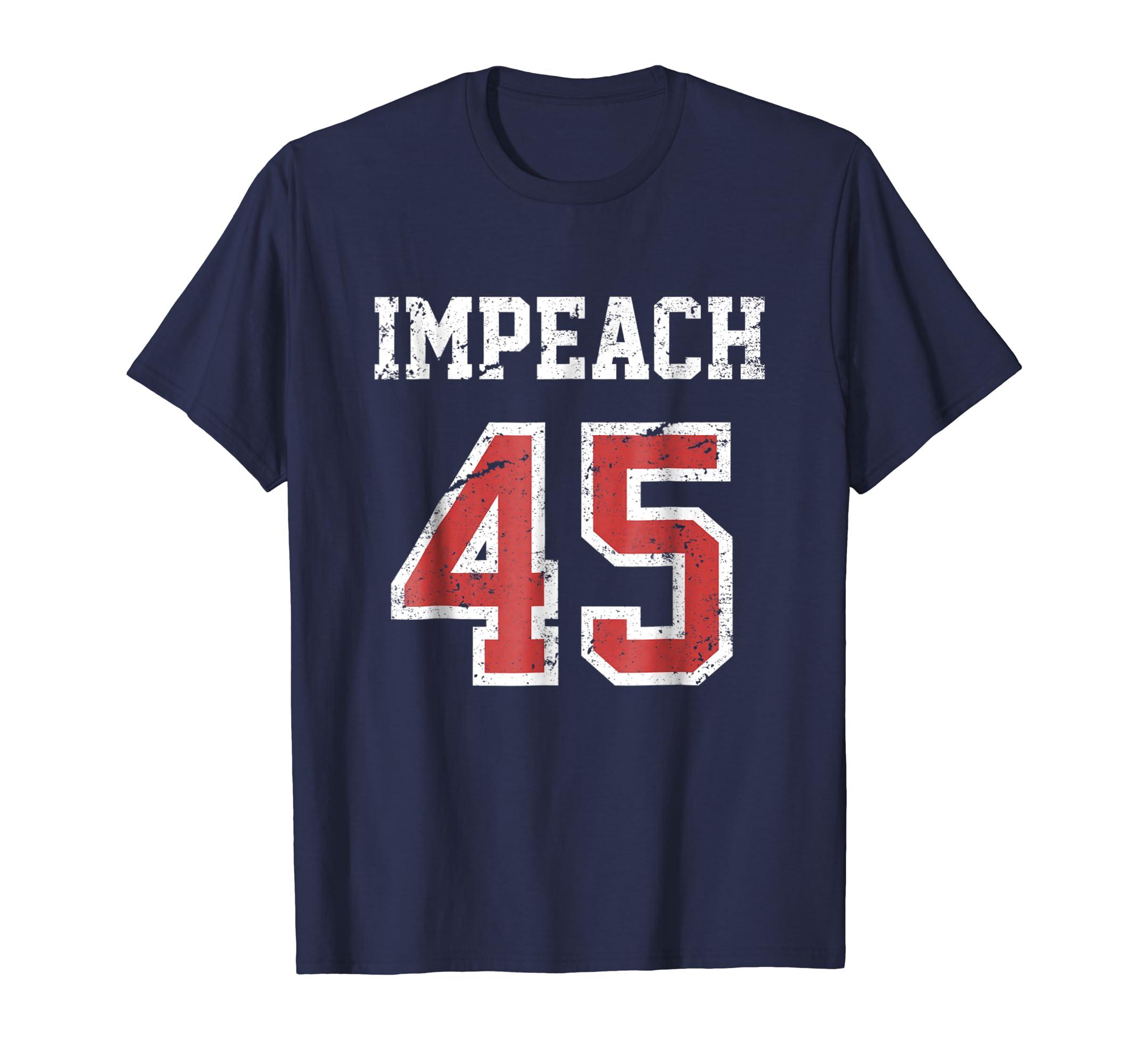 Impeach 45 T-Shirt Team Impeach Trump Vintage-ln