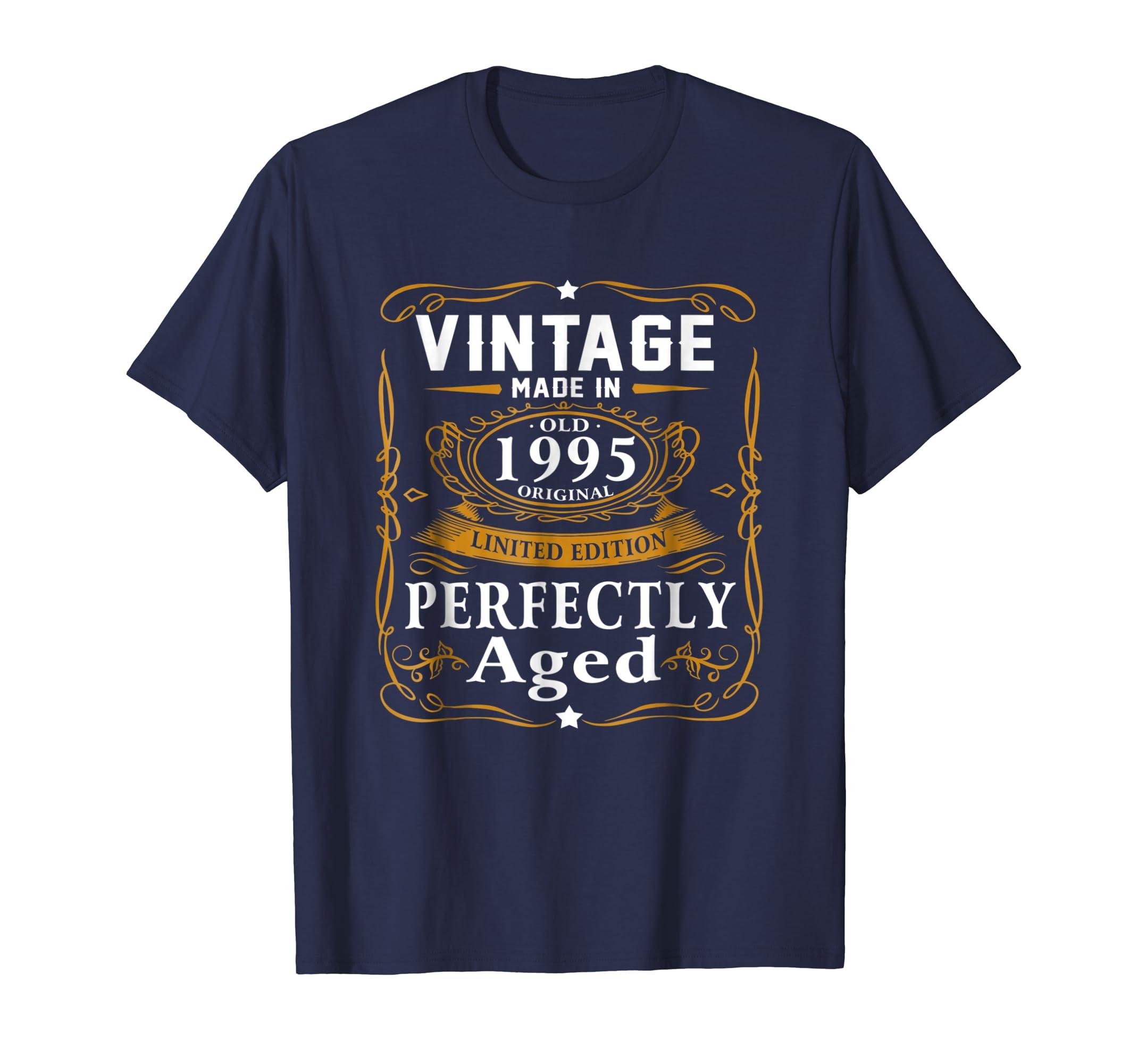 24th Birthday Gift Vintage 1995 Year T Shirt Men Women-azvn