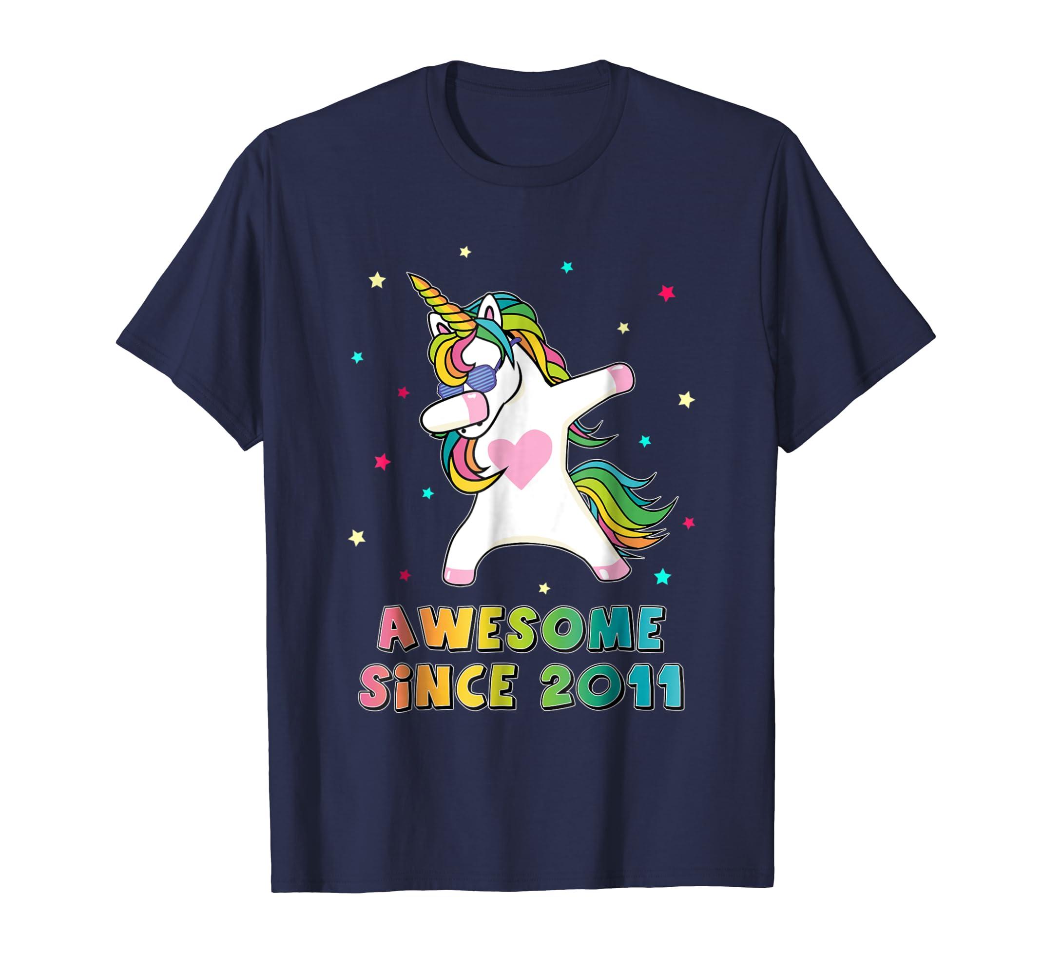 7th 2011 Unicorn Birthday shirt 7 years old Dabbing shirt-Newstyleth