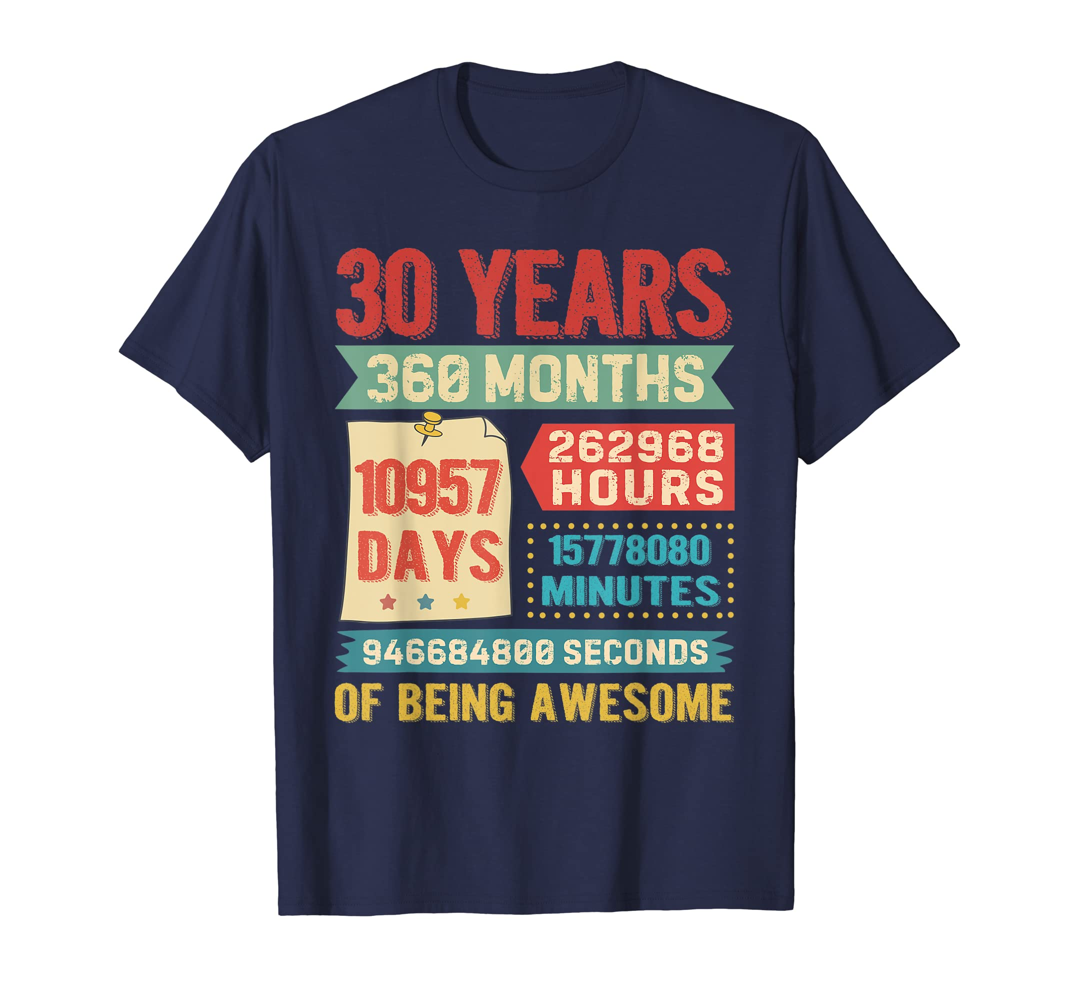 9bcb6d129 Amazon.com: Funny 30 Years Old 360 Months Shirt 30th Birthday Gift Ideas:  Clothing
