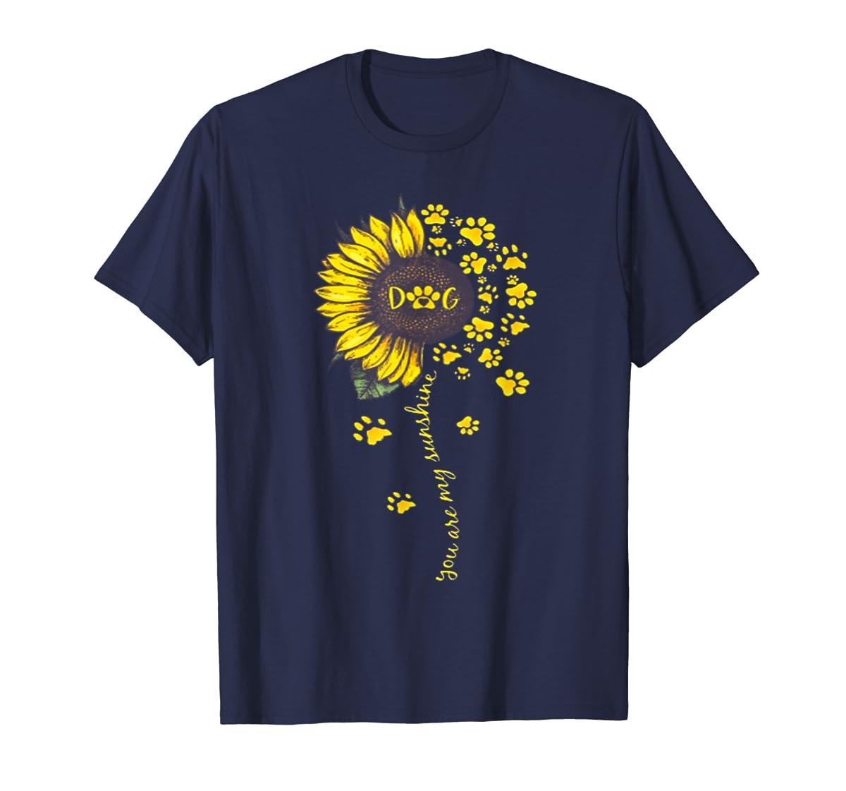 You Are My Sunshine Dog Tshirt-Men's T-Shirt-Navy