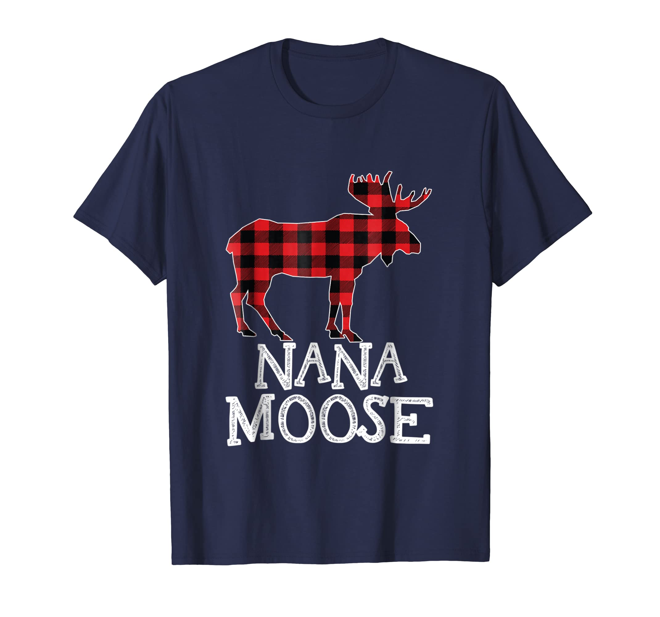 Nana Moose Matching Family Christmas Shirt Plaid Pajama Tee-azvn