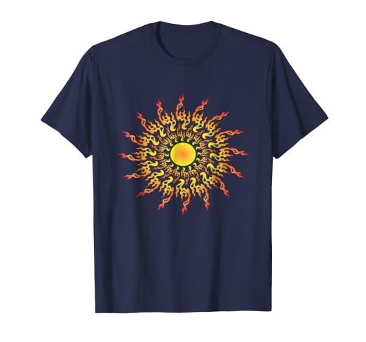 a328ffef5ff Amazon.com: Sun Graphic Tee Mens Womens Novelty Sunshine Yoga T ...
