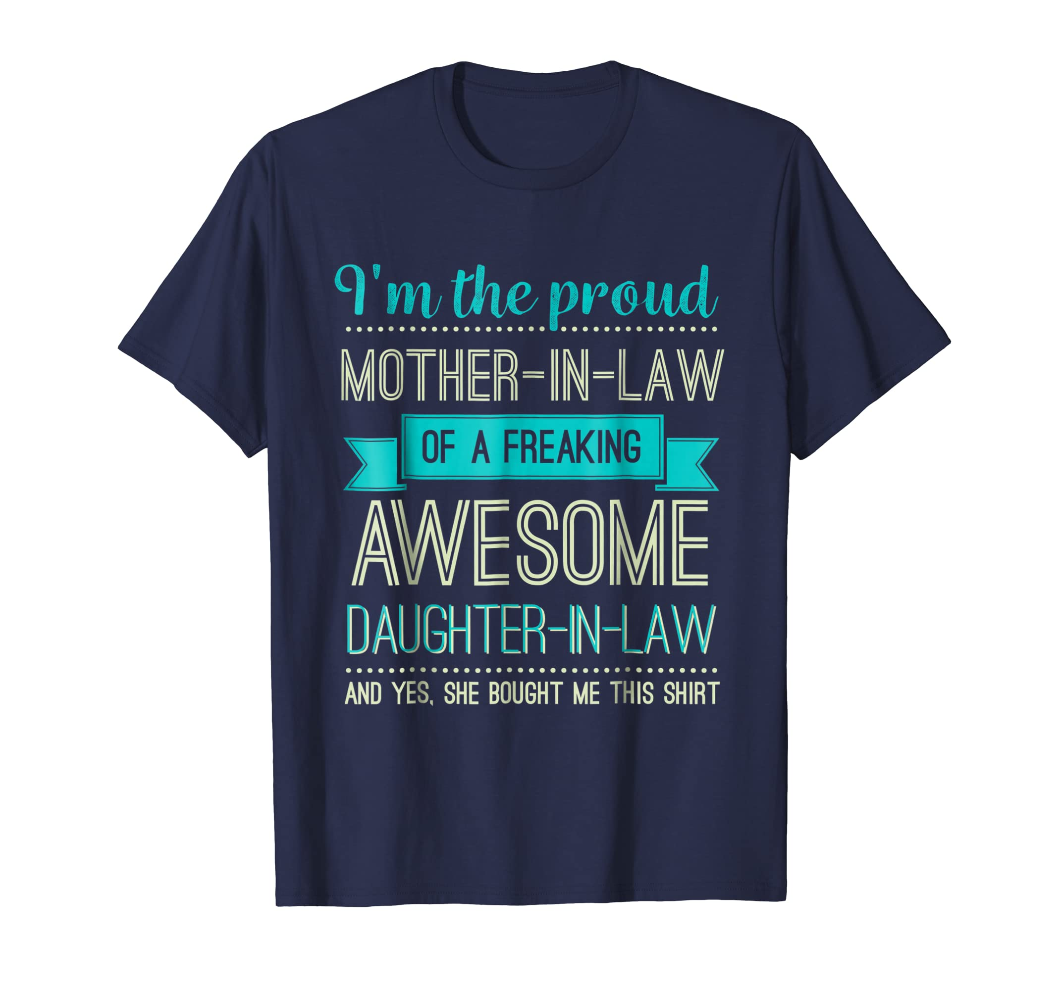 Proud Mother-In-Law Shirt Perfect Gifts From Daughter-In-Law-anz